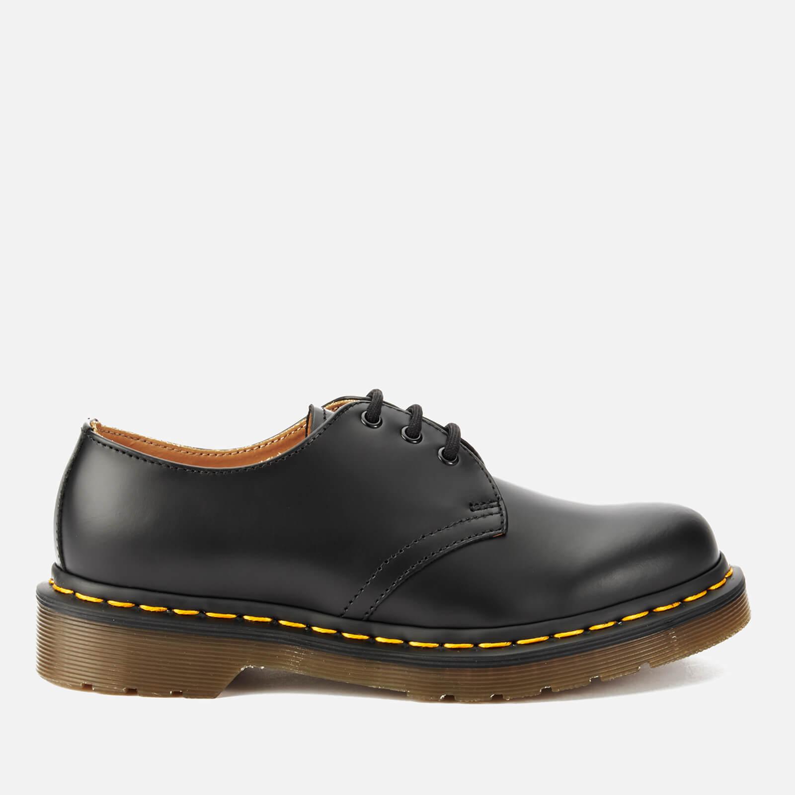 Dr. Martens 1461 Smooth Leather 3-Eye Shoes - Black - UK 8