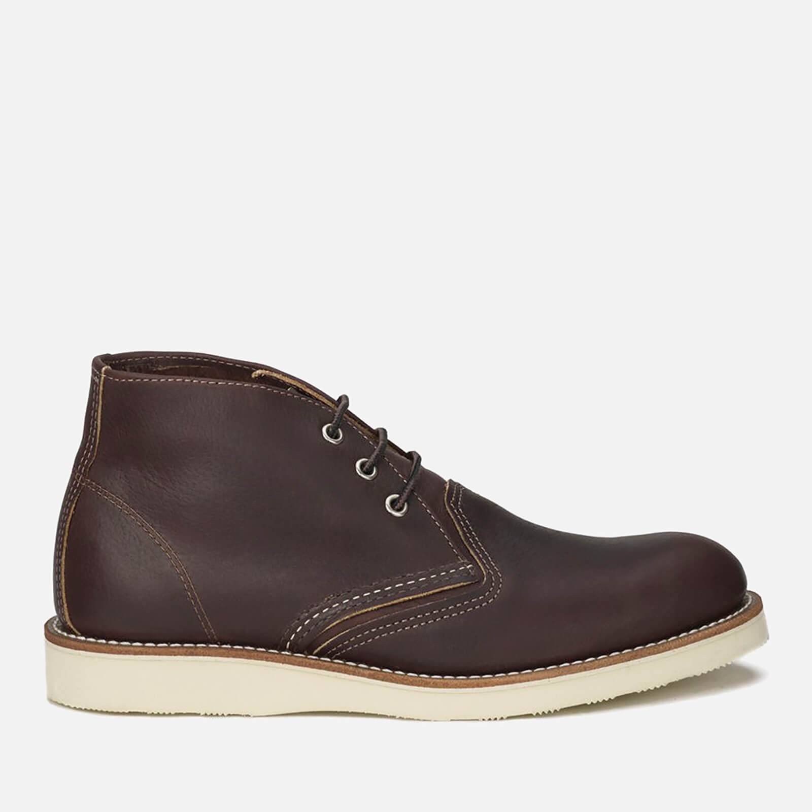 Red Wing Men's Chukka Leather Boots - Briar Oil Slick - UK 10/US 11 - Brown