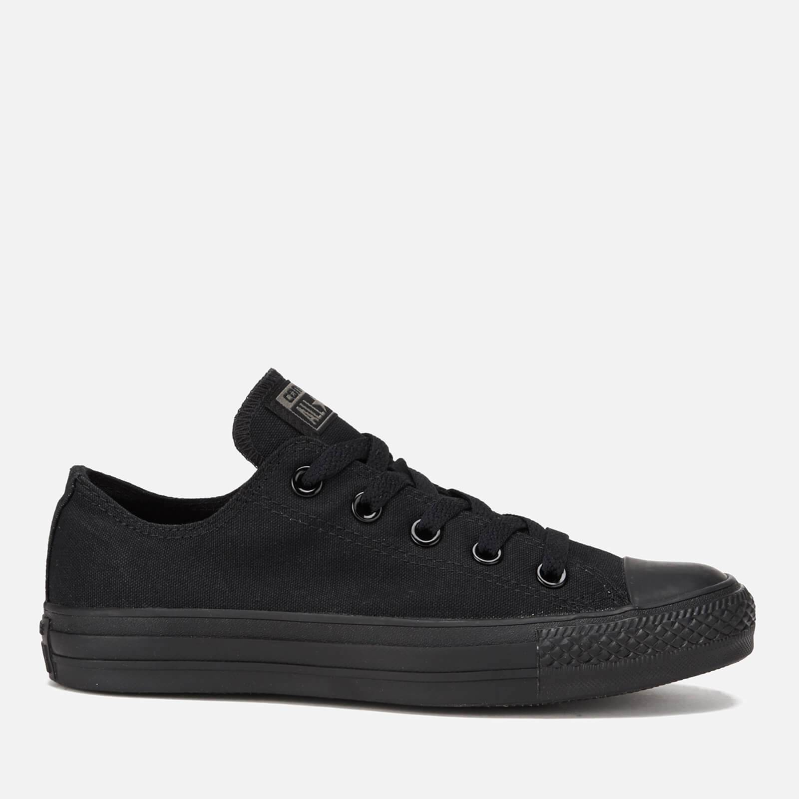 Converse Chuck Taylor All Star Ox Canvas Trainers - Black Monochrome - UK 8