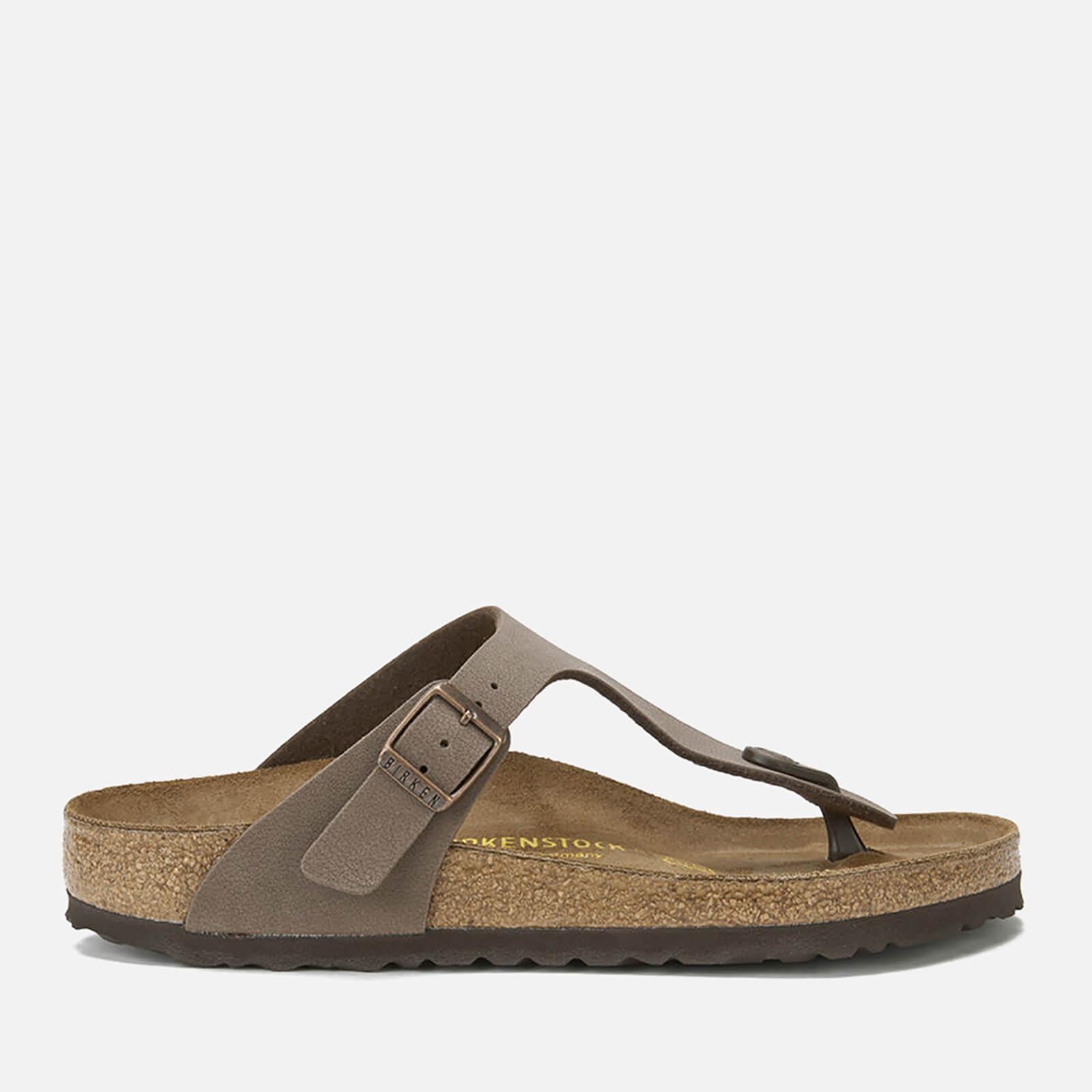 Birkenstock Women's Gizeh Toe-Post Leather Sandals - Mocha - EU 40/UK 7
