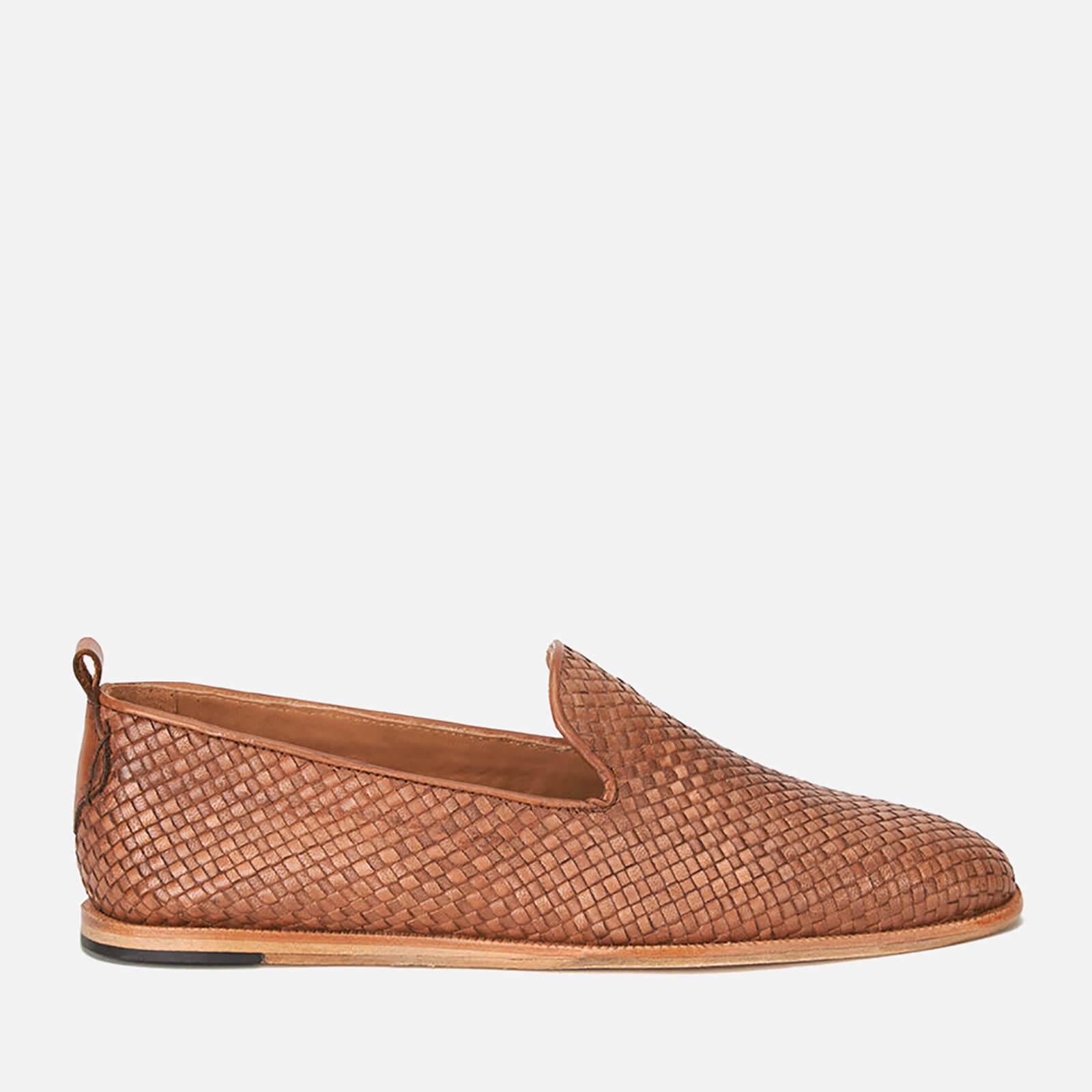 Hudson London Men's Ipanema Weave Slip on Leather Shoes - Tan - UK 8 - Tan