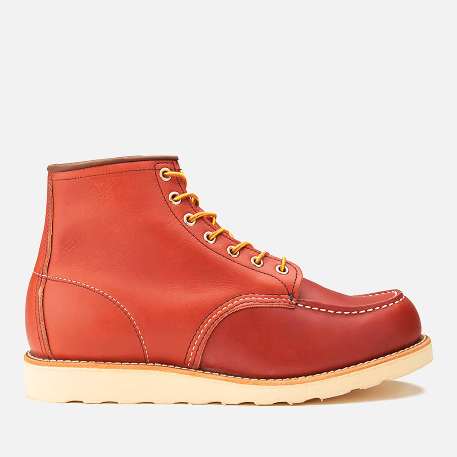 Red Wing Men's 6 Inch Moc Toe Leather Lace Up Boots - Oro Russet Portage - UK 9/US 10