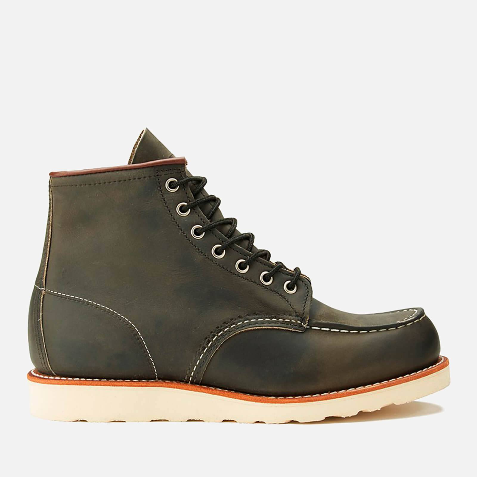 Red Wing Men's 6 Inch Moc Toe Leather Lace Up Boots - Charcoal Rough and Tough - UK 10/US 11