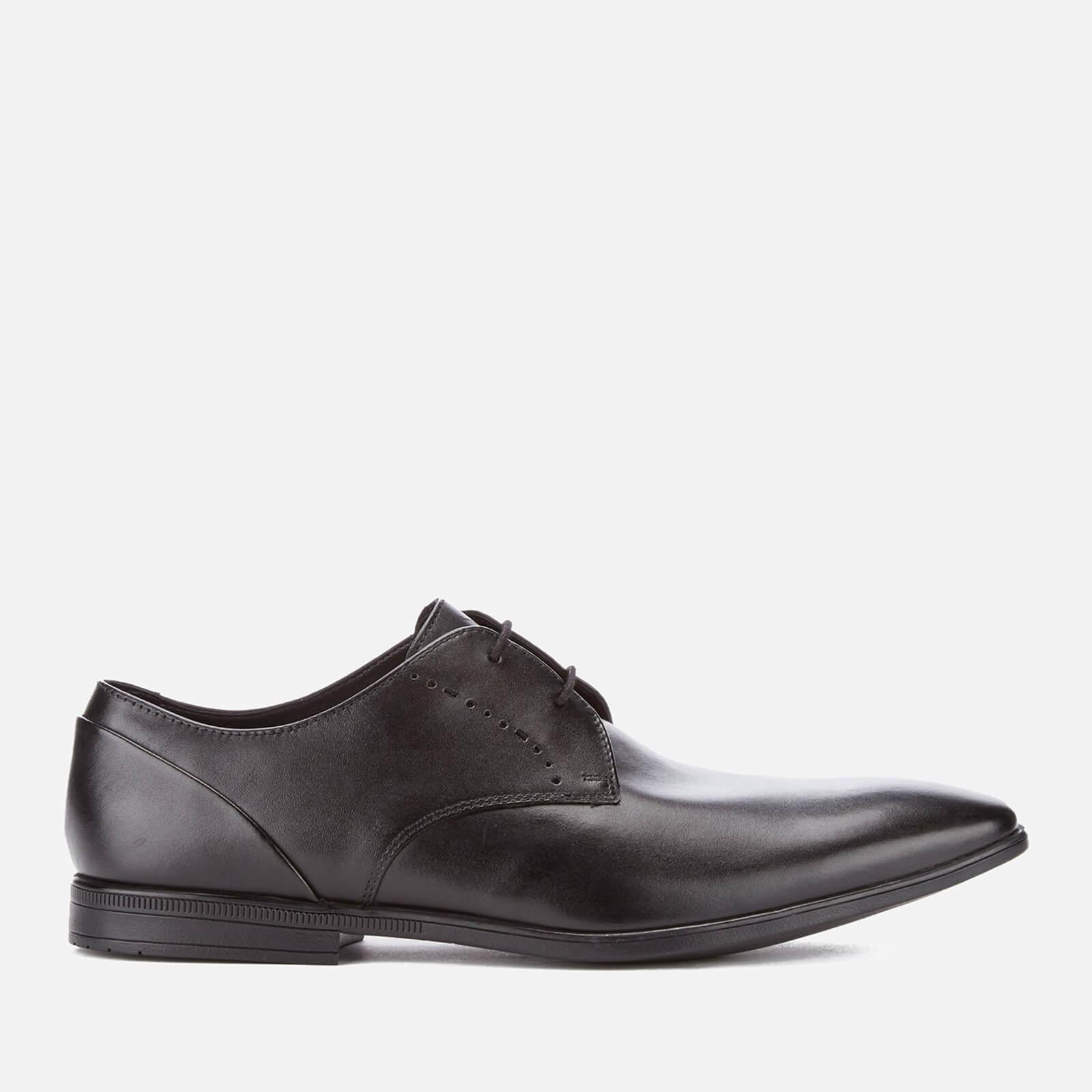 Clarks Men's Bampton Lace Leather Derby Shoes - Black - UK 8