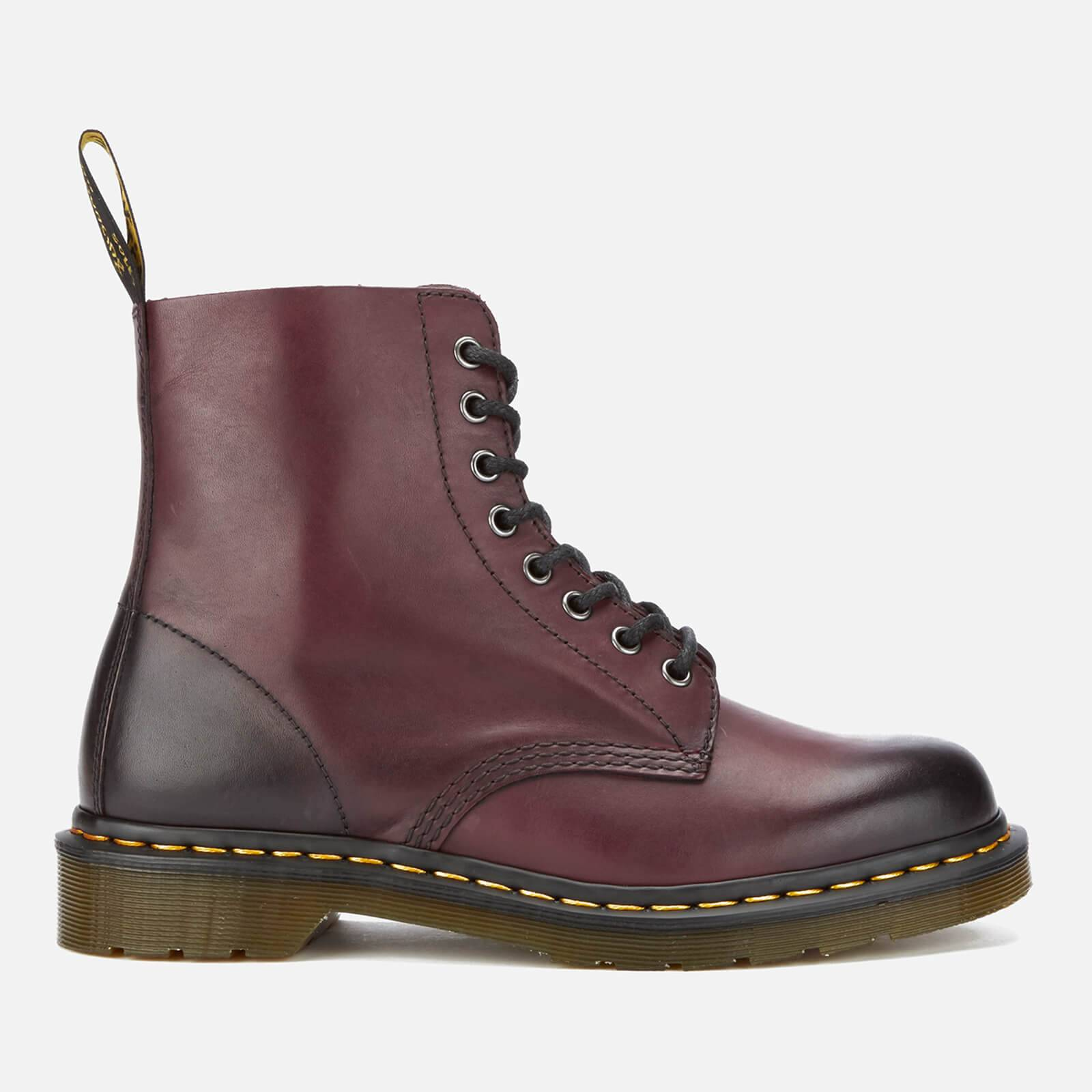 Dr. Martens Men's 1460 Pascal Antique Temperley Leather 8-Eye Boots - Cherry Red - UK 8 - Burgundy