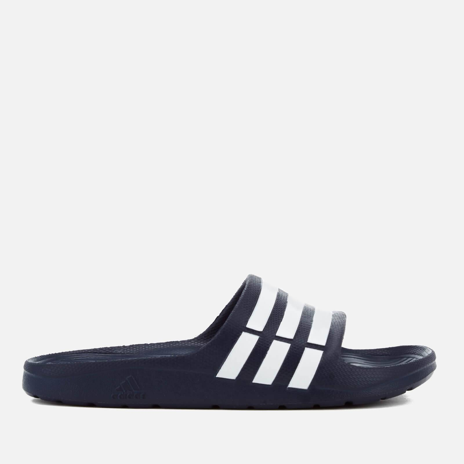 adidas Duramo Slide Sandals - Dark Blue - UK 8