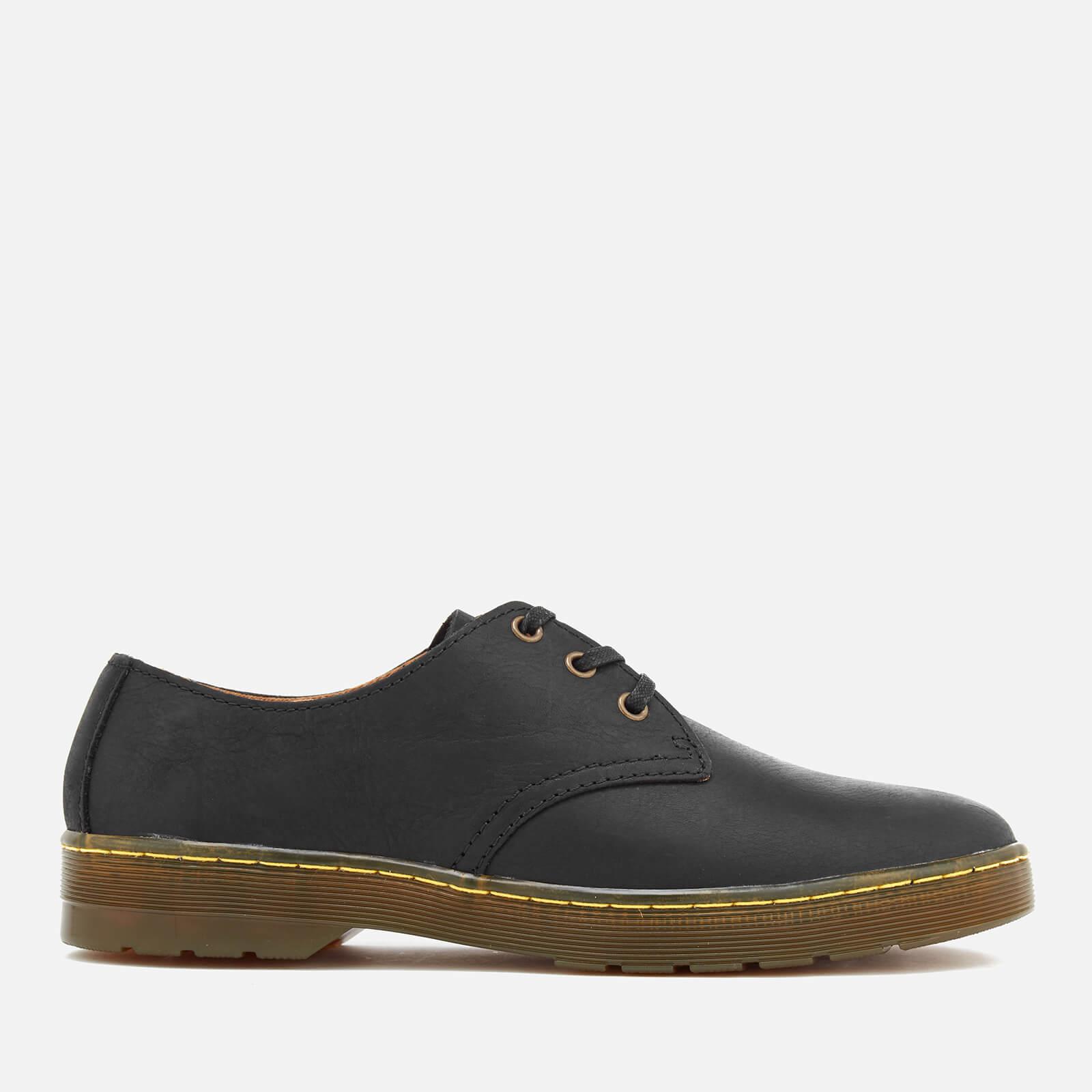 Dr. Martens Men's Cruise Coronado Leather Derby Shoes - Black - UK 11 - Black