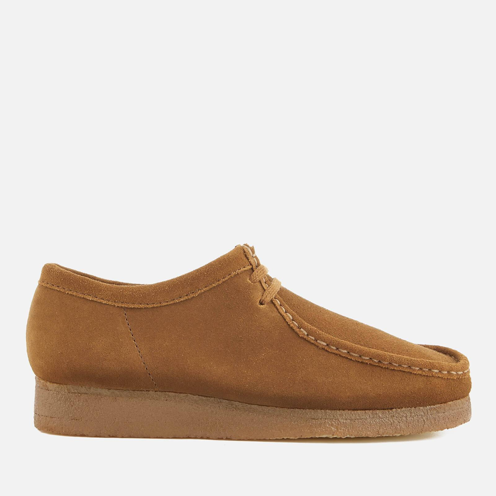 Clarks Originals Men's Wallabee Suede Shoes - Cola - UK 9 - Tan