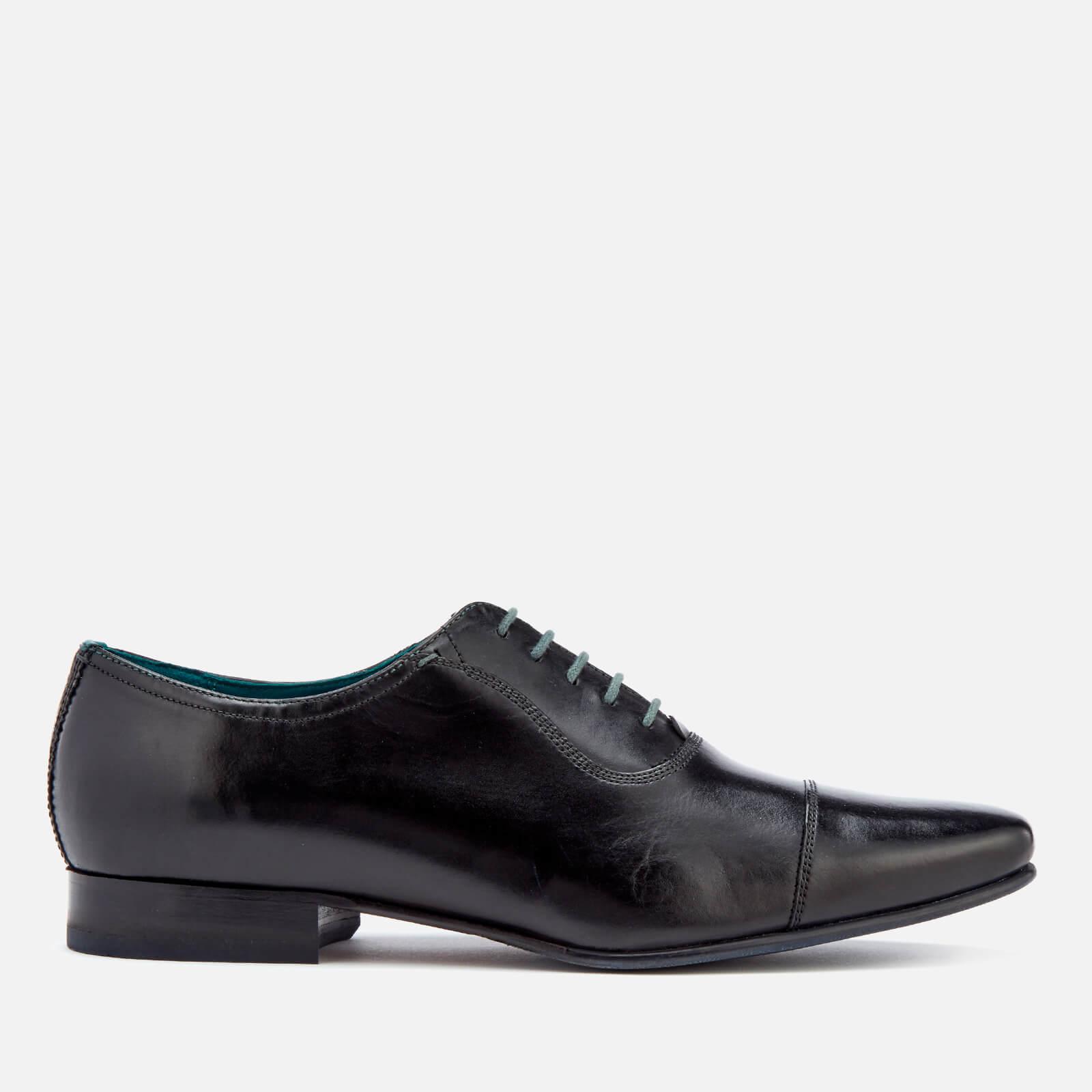 Ted Baker Men's Karney Leather Toe-Cap Oxford Shoes - Black - UK 8