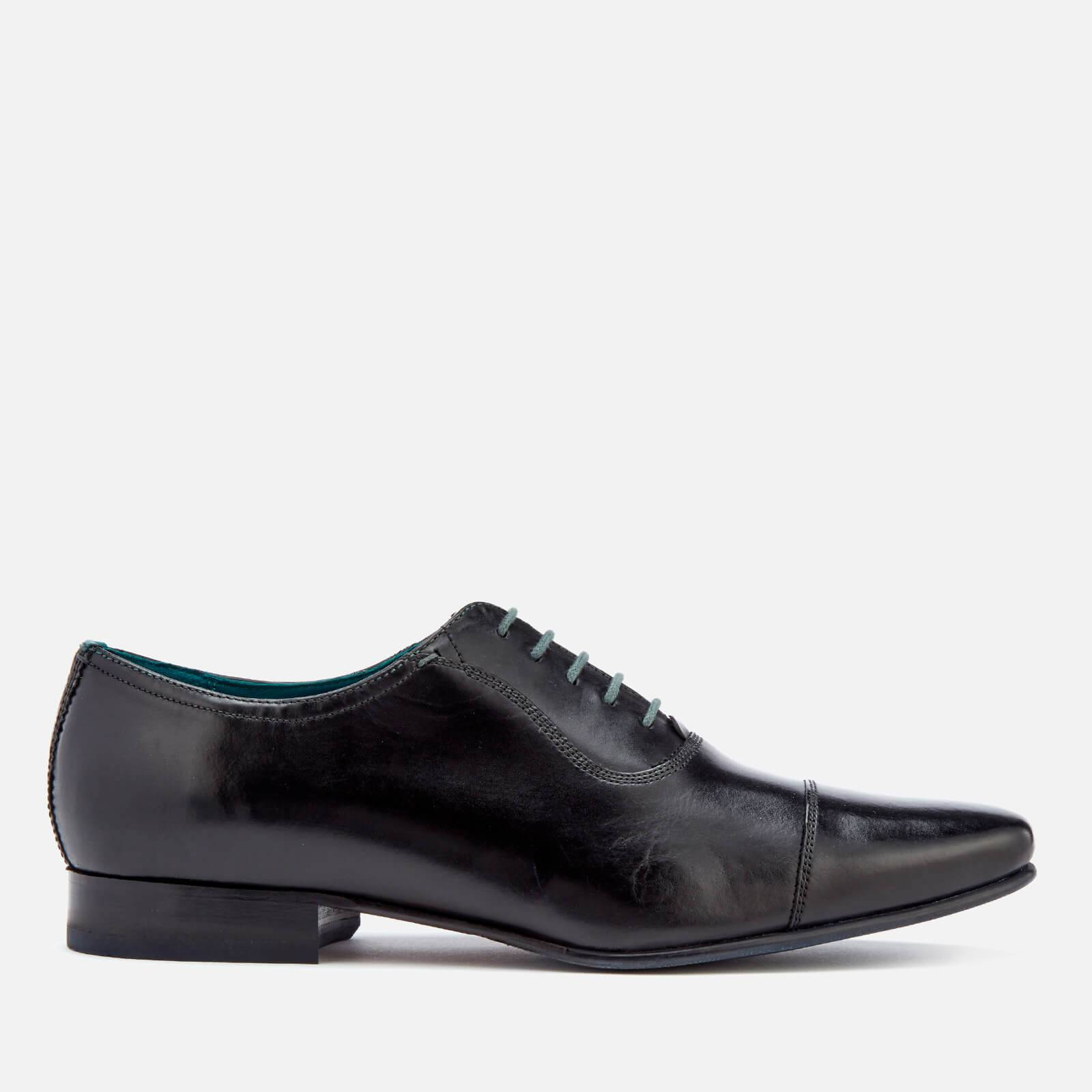 Ted Baker Men's Karney Leather Toe-Cap Oxford Shoes - Black - UK 10