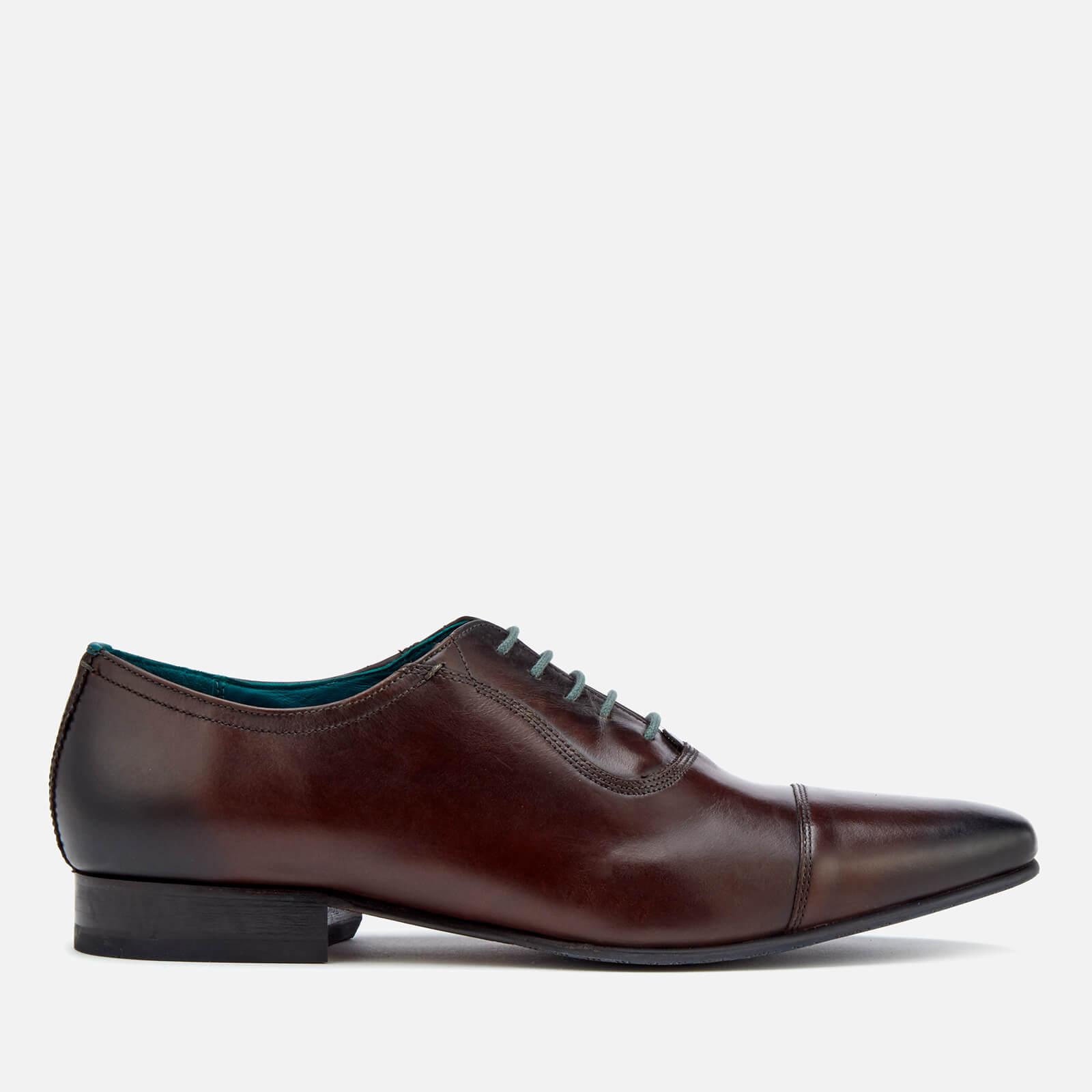 Ted Baker Men's Karney Leather Toe-Cap Oxford Shoes - Brown - UK 9