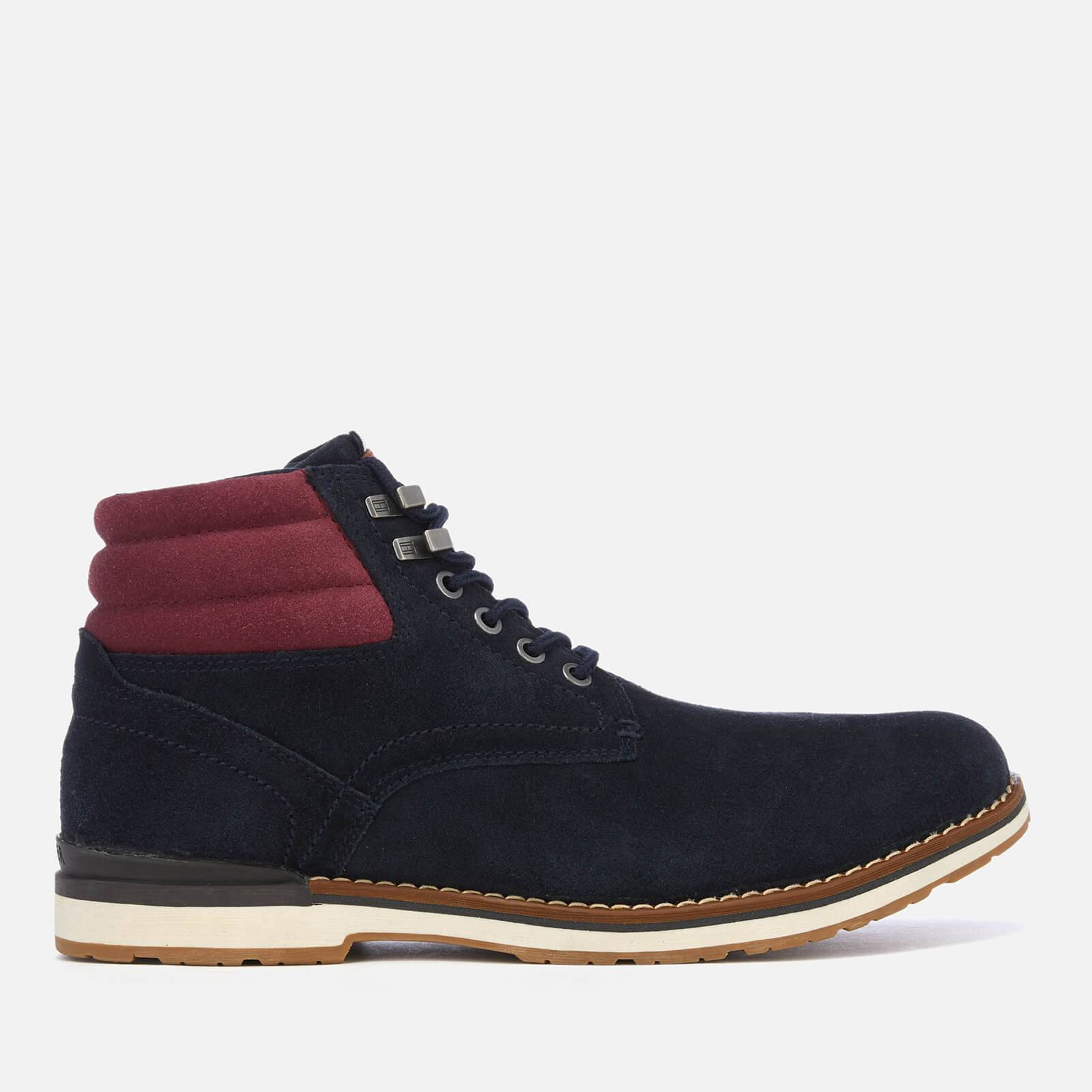 Tommy Hilfiger Men's Outdoor Suede Boots - Midnight - UK 7 - Blue