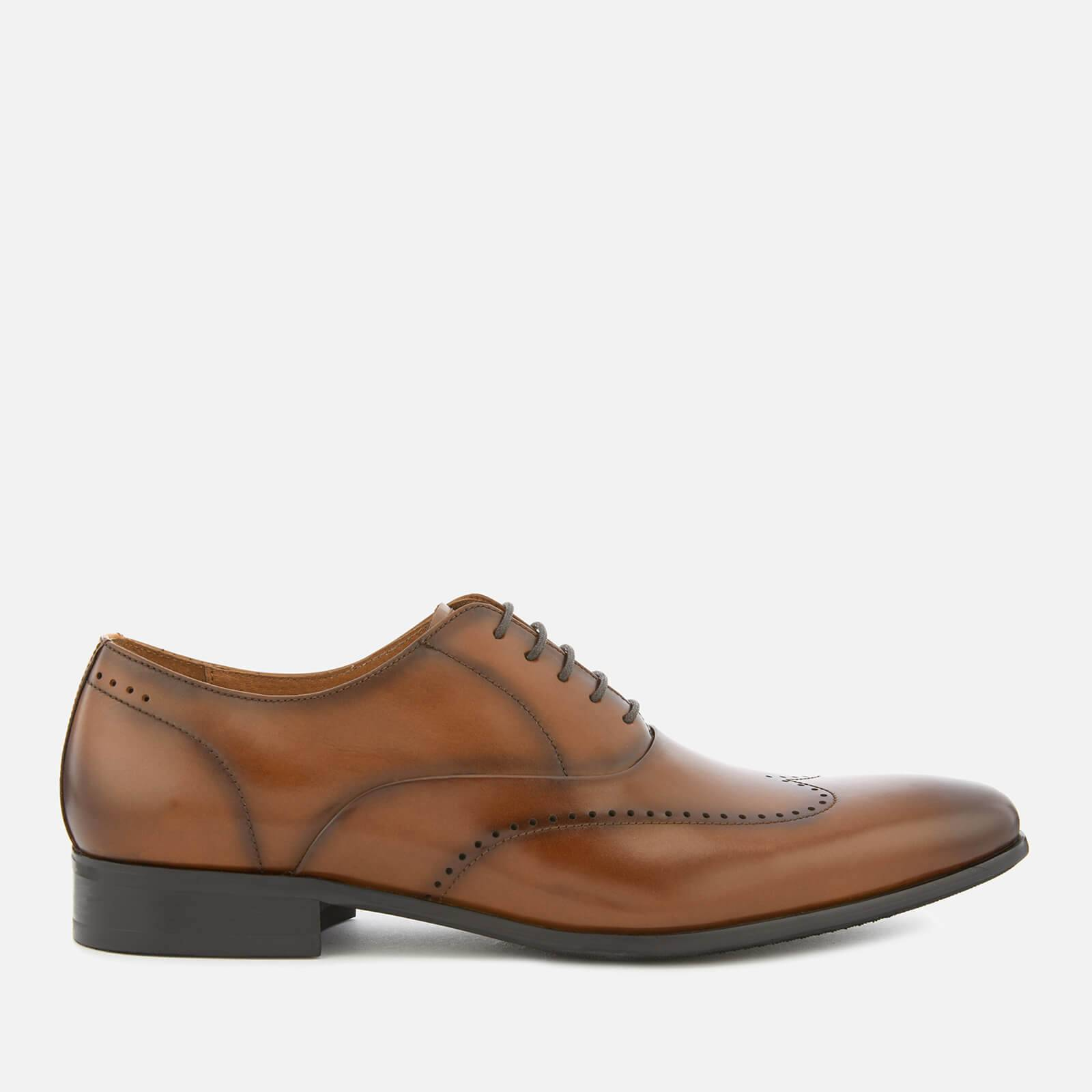 Dune Men's Perivale Leather Oxford Shoes - Brown - UK 12 - Brown