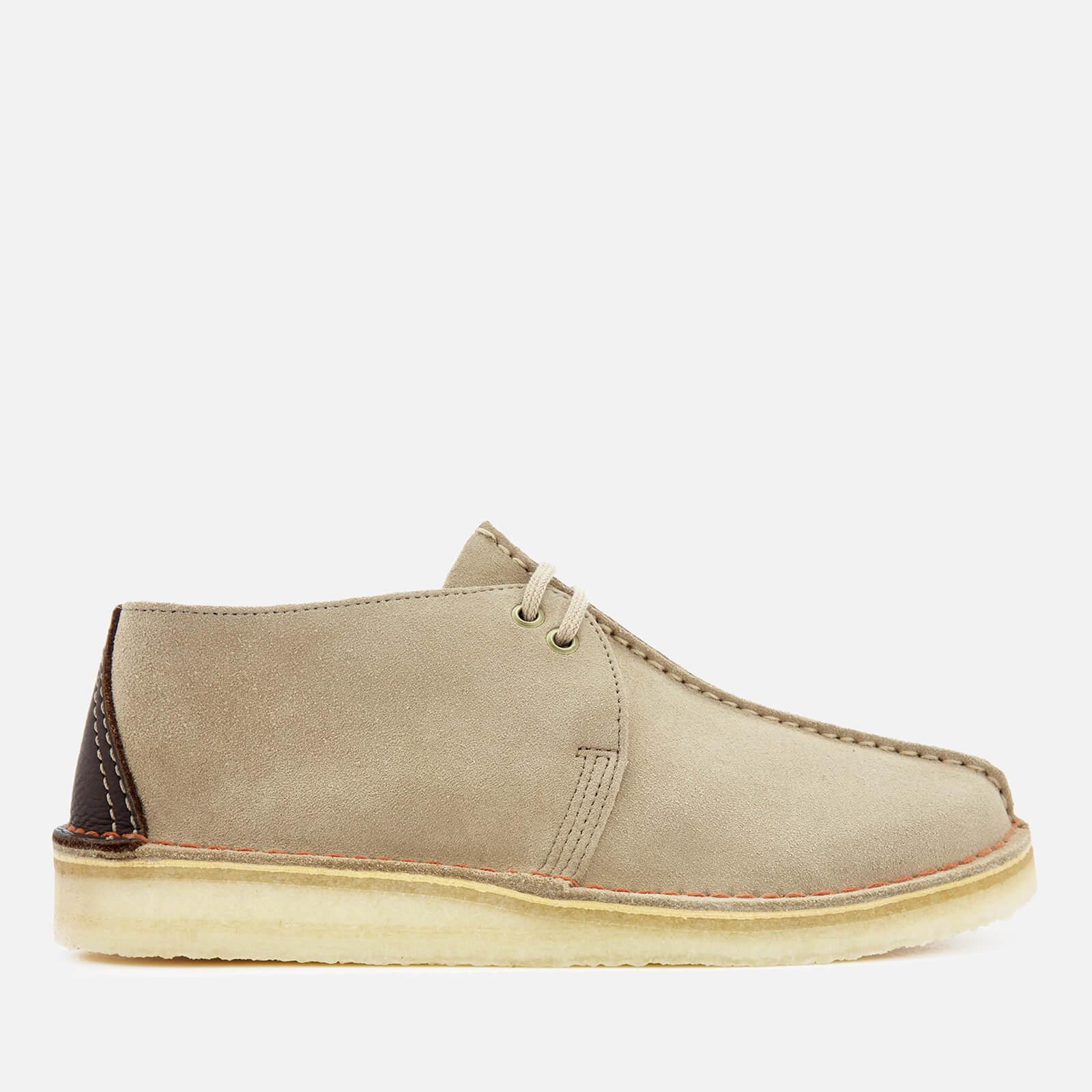 Clarks Originals Men's Desert Trek Suede Shoes - Sand - UK 9