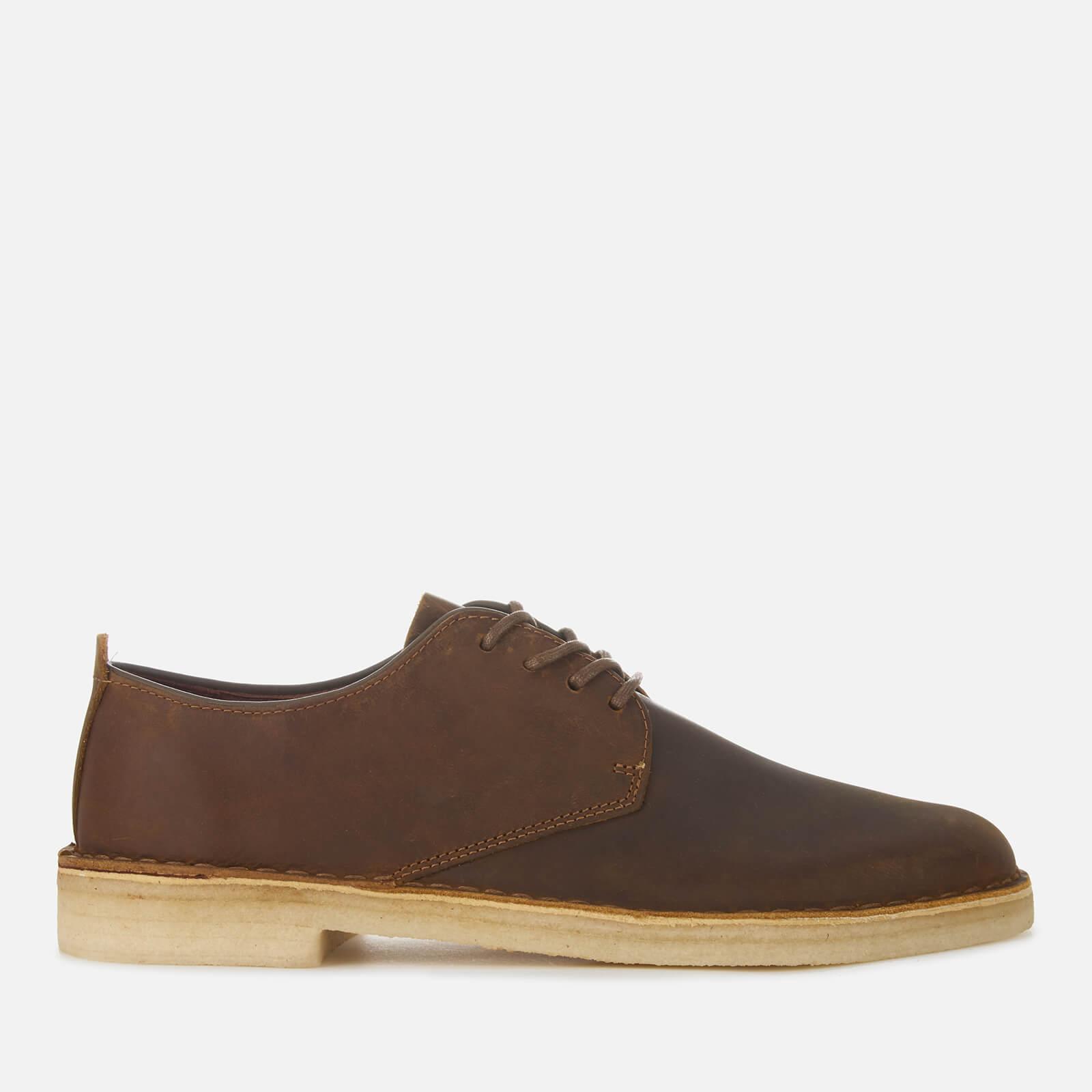 Clarks Originals Men's Desert London Leather Derby Shoes - Beeswax - UK 7