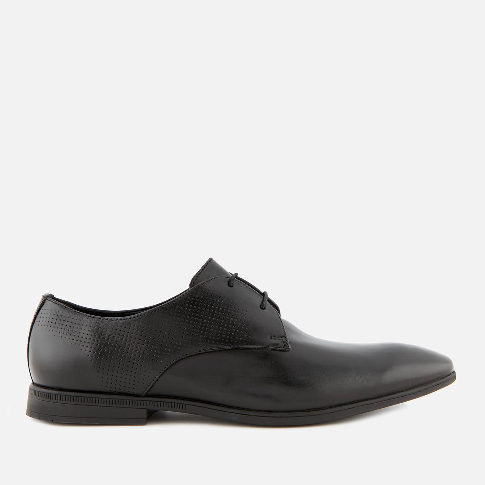 Clarks Men's Bampton Walk Leather Derby Shoes - Black - UK 9 - Black