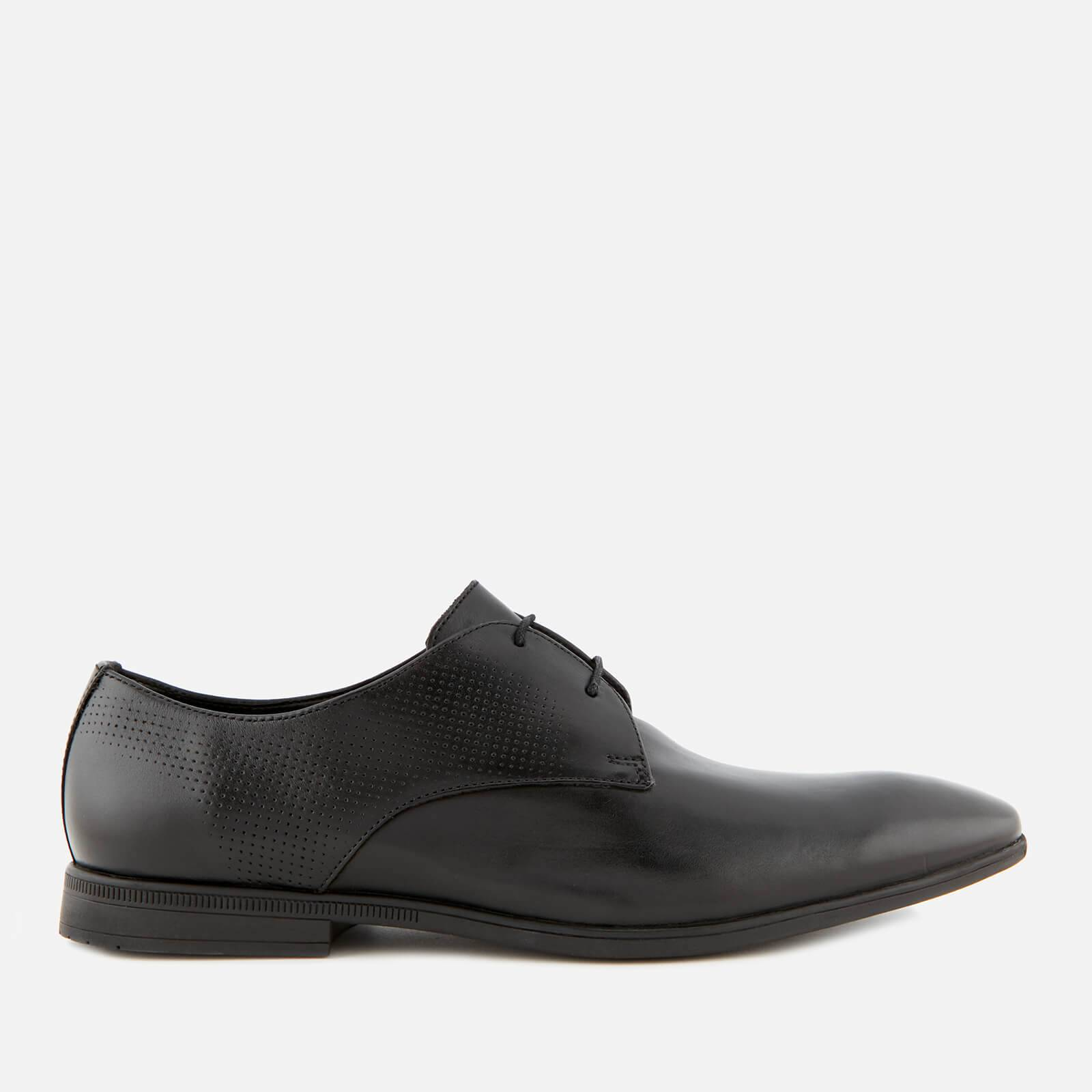 Clarks Men's Bampton Walk Leather Derby Shoes - Black - UK 8 - Black
