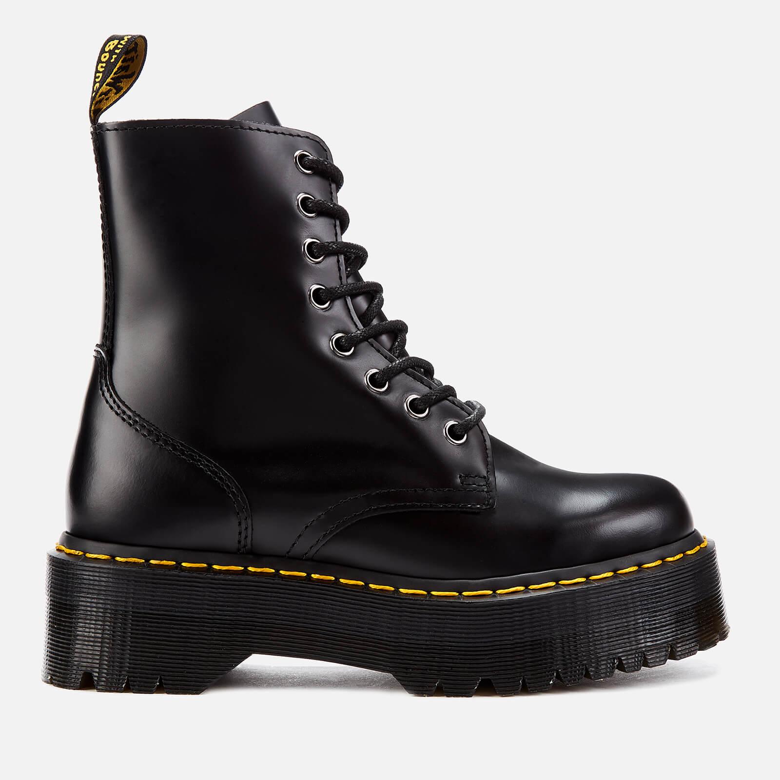 Dr. Martens Women's Jadon Polished Smooth Leather 8-Eye Boots - Black - UK 4 - Black