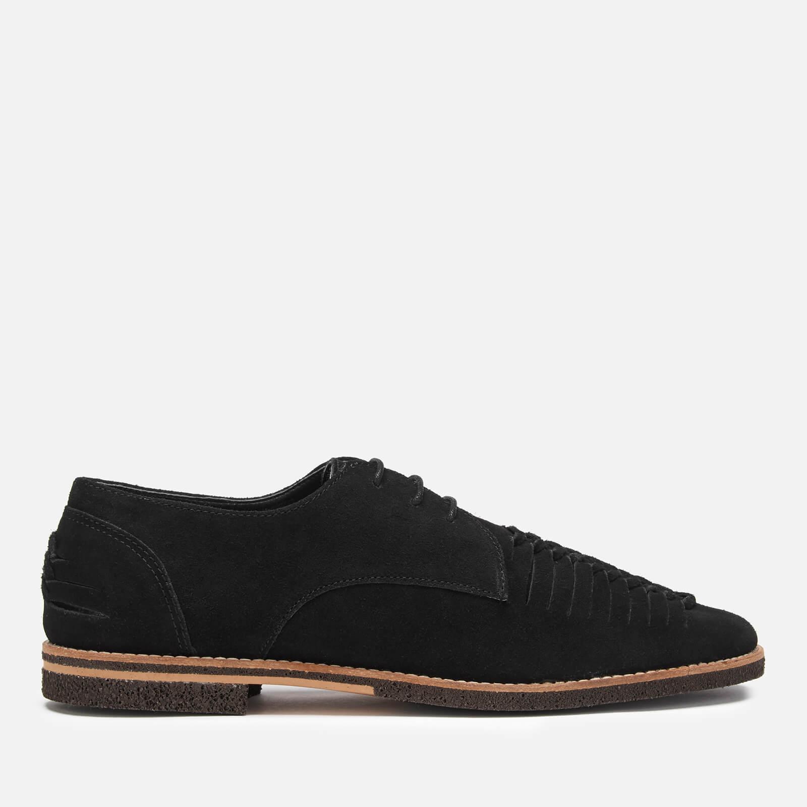 Hudson London Men's Chatra Woven Suede Derby Shoes - Black - UK 10