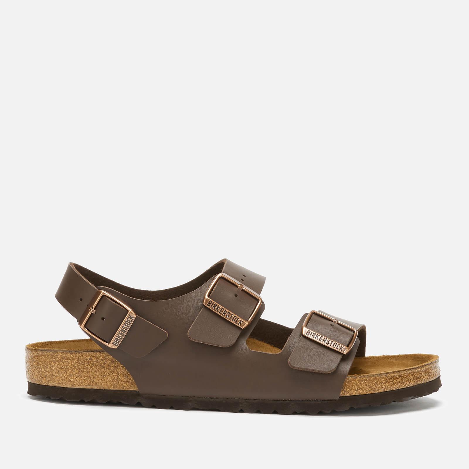 Birkenstock Men's Milano Double Strap Sandals - Dark Brown - EU 41/UK 7.5
