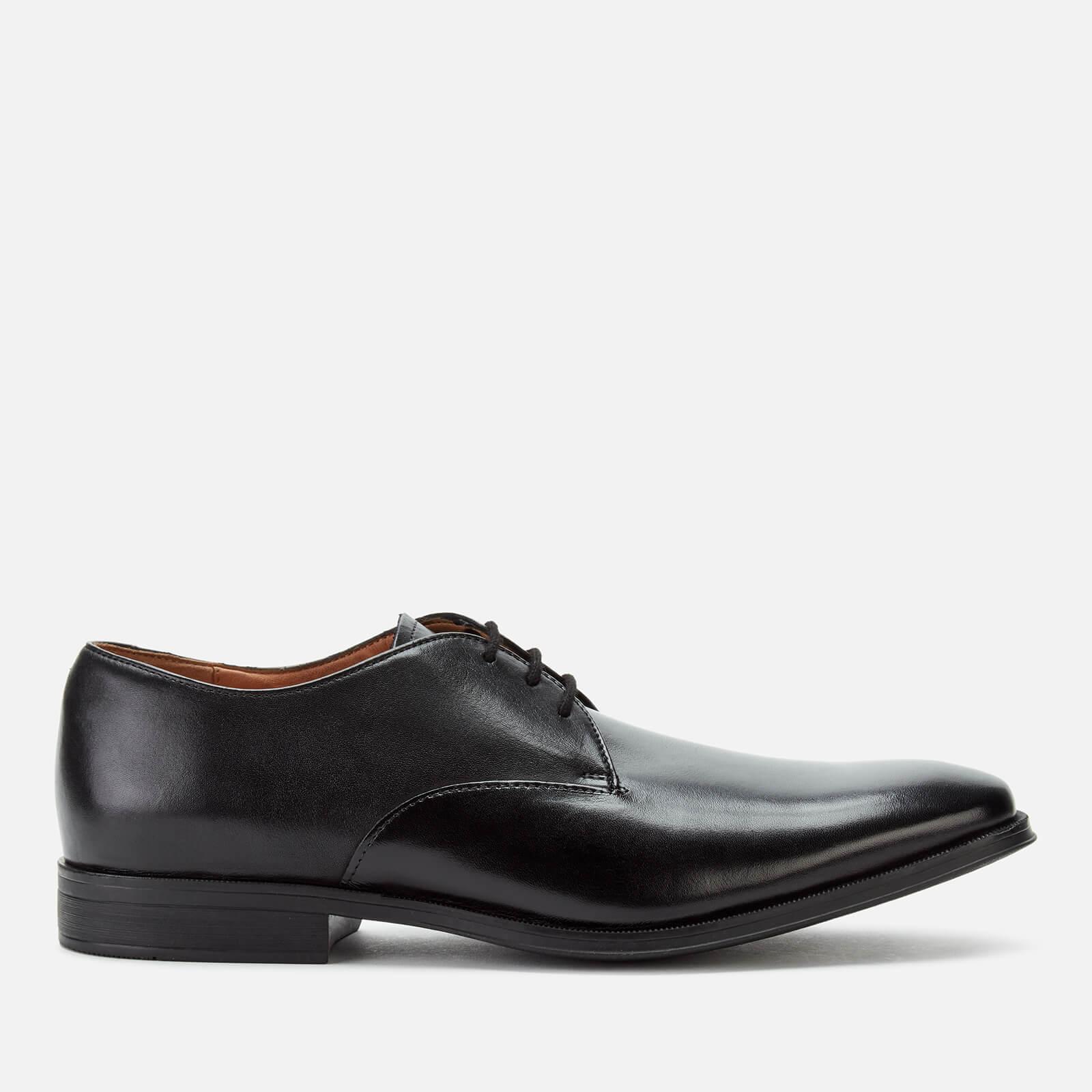 Clarks Men's Gilman Walk Leather Derby Shoes - Black - UK 10