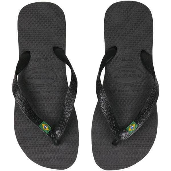 Havaianas Brasil Flip Flops - Black - EU 37-38/UK 5 - Black