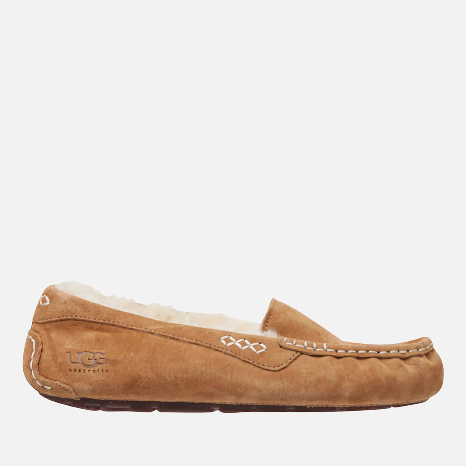 UGG Women's Ansley Moccasin Suede Slippers - Chestnut - UK 8