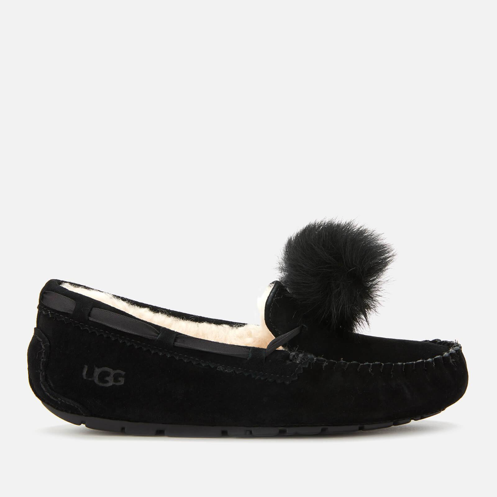 UGG Women's Dakota Pom Pom Moccasin Slippers - Black - UK 3