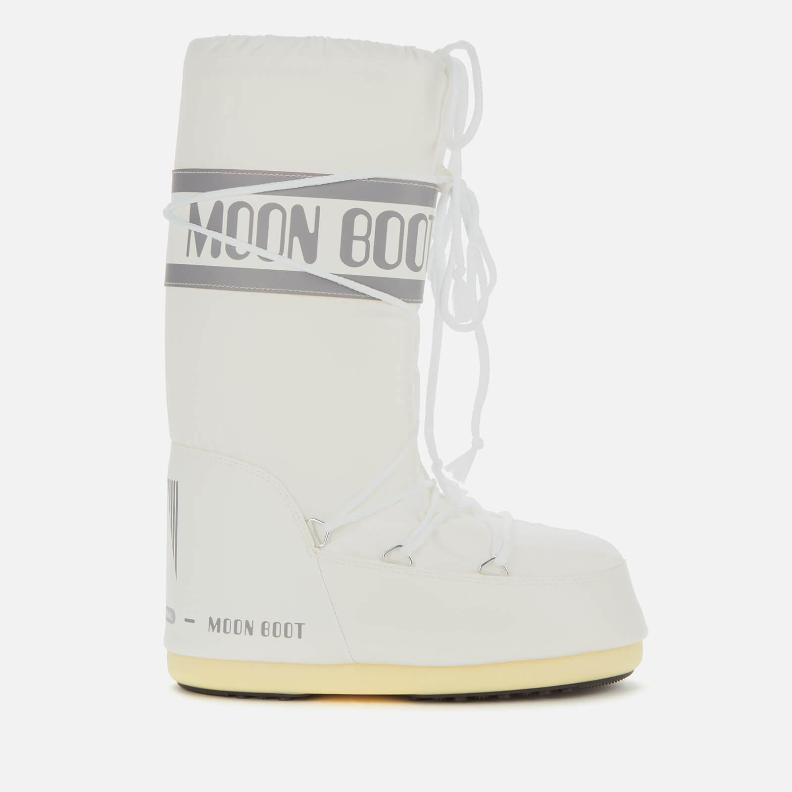 Moon Boot Women's Nylon Boots - White - EU 39-41
