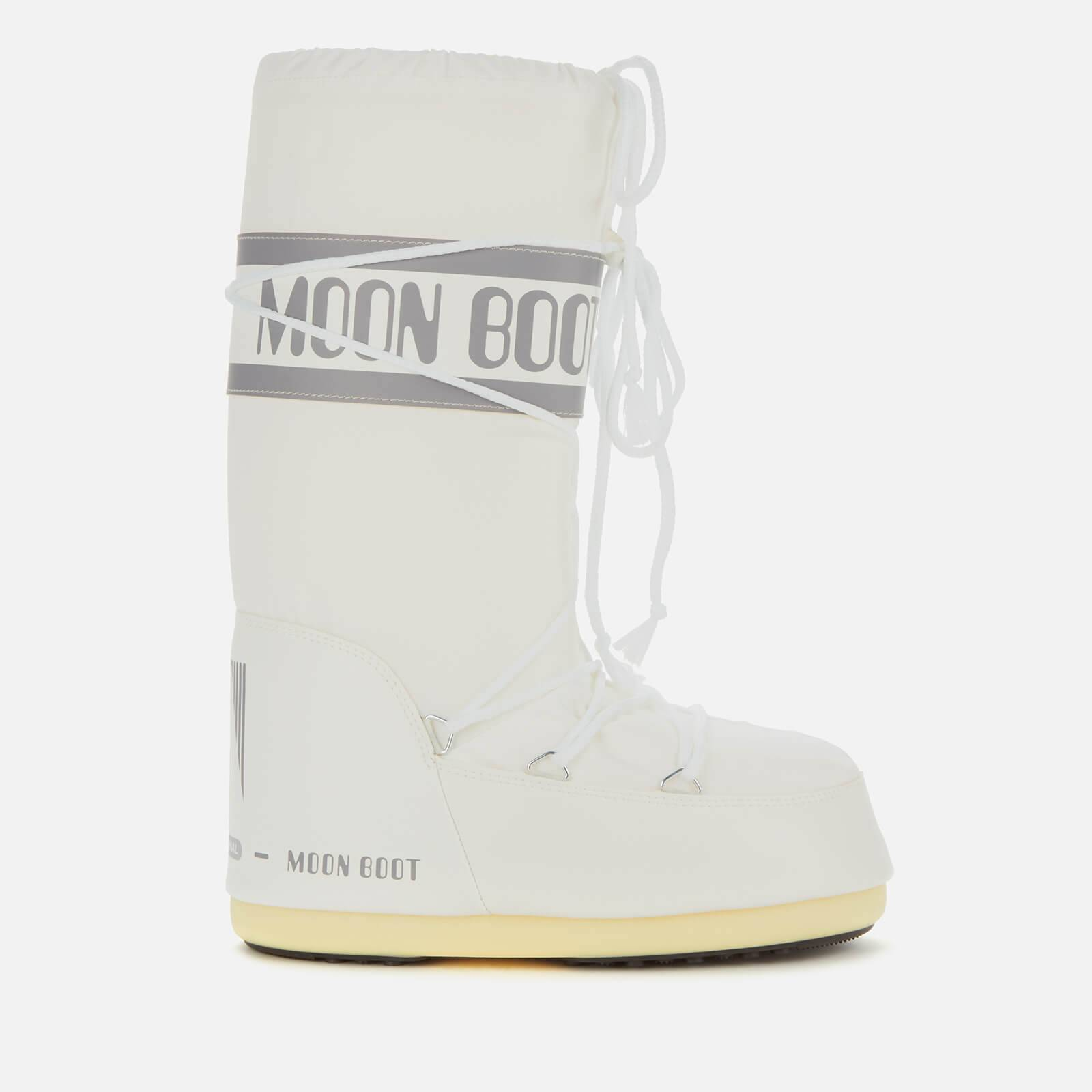 Moon Boot Women's Nylon Boots - White - EU 39-41