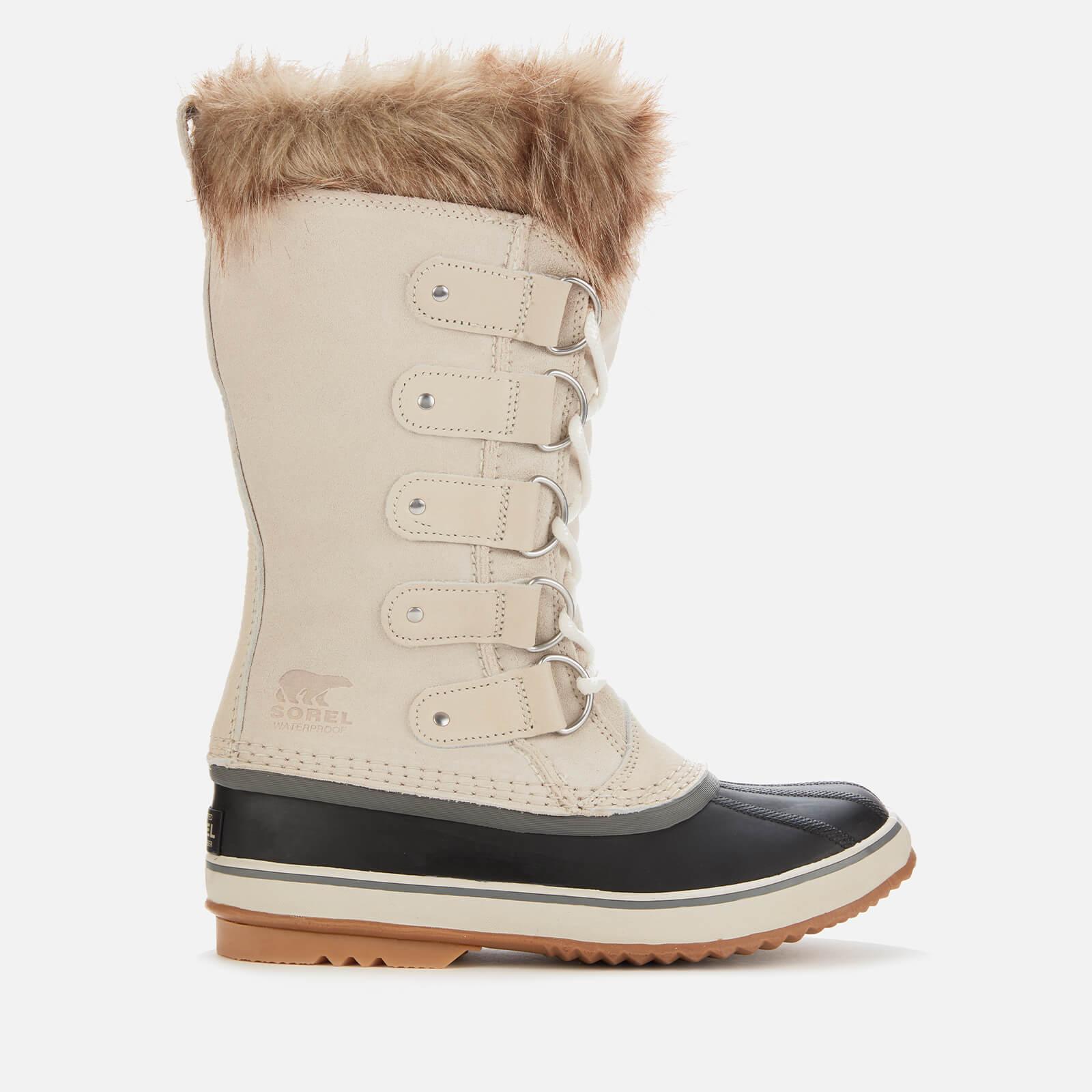 Sorel Women's Joan Of Arctic Waterproof Suede Knee High Winter Boots - Dark Stone/Sea Salt - UK 3