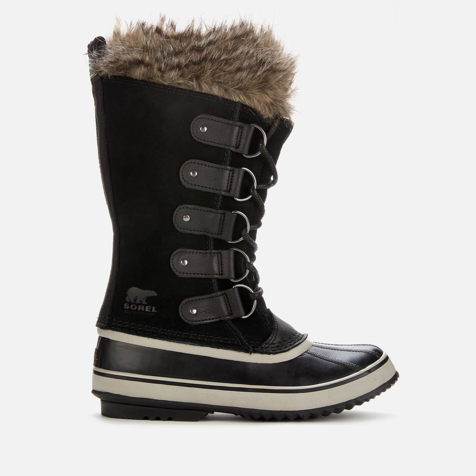 Sorel Women's Joan Of Arctic Waterproof Suede Knee High Winter Boots - Black/Quarry - UK 6
