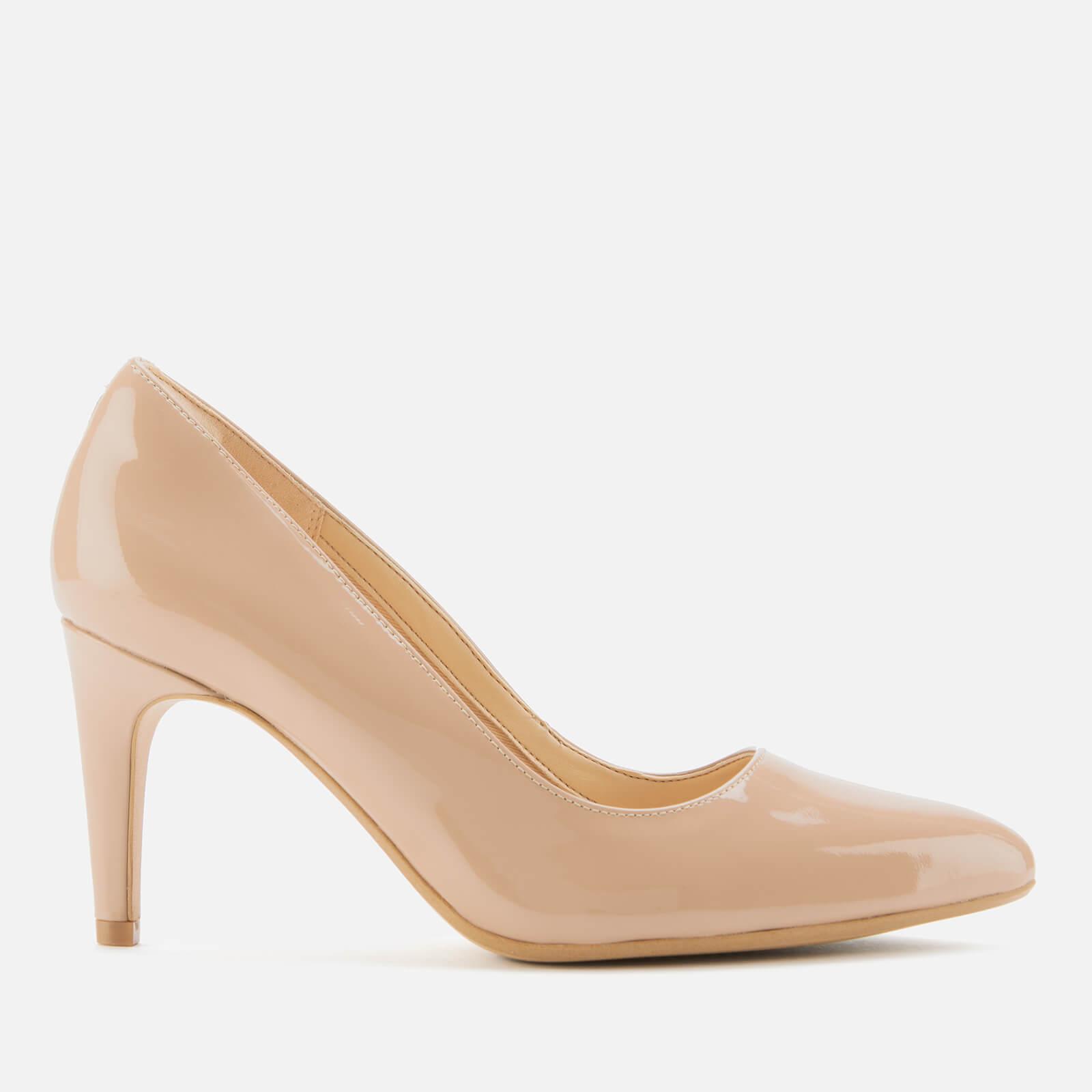 Clarks Women's Laina Rae Patent Court Shoes - Praline - UK 4