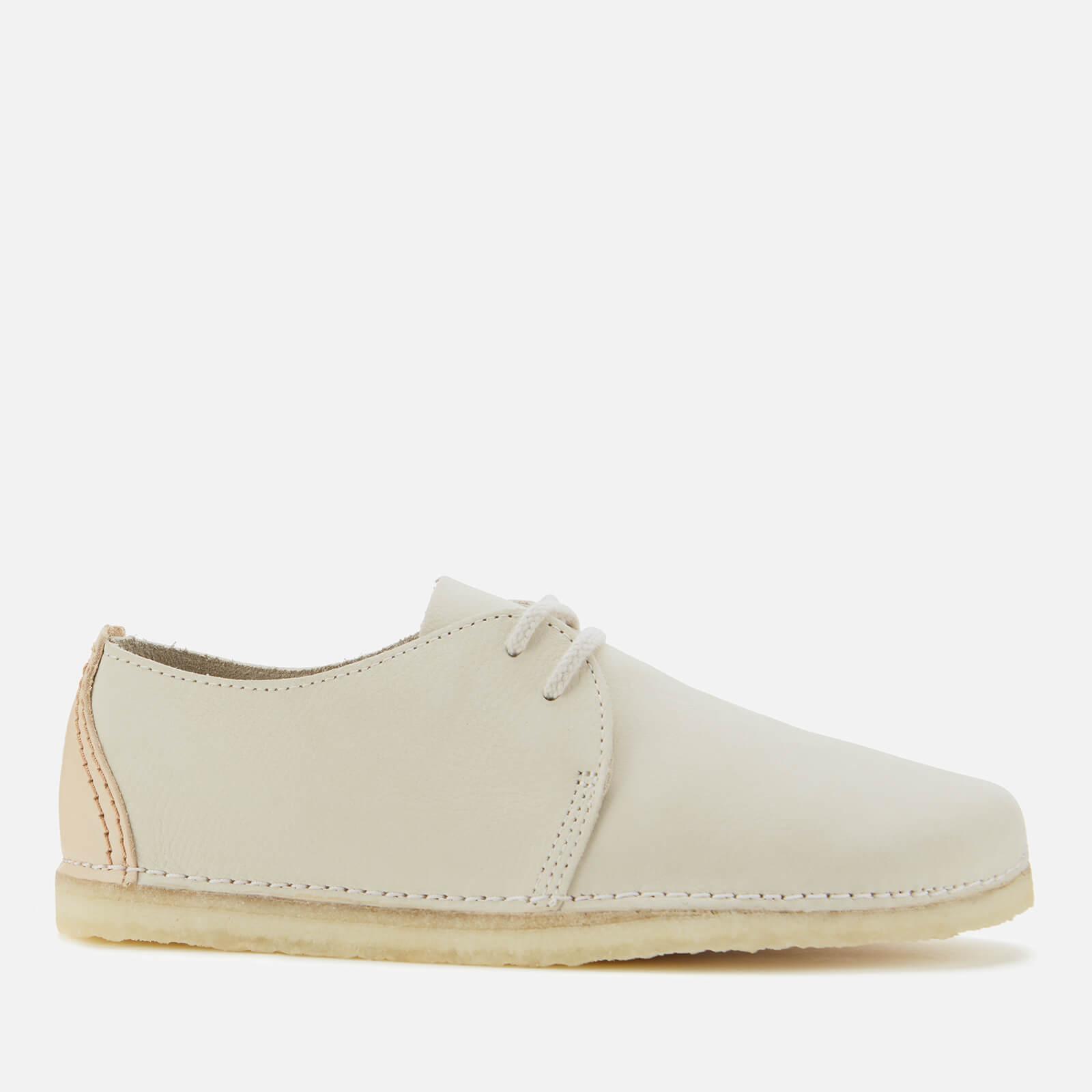 Clarks Originals Women's Ashton Nubuck Flat Shoes - Off White - UK 5