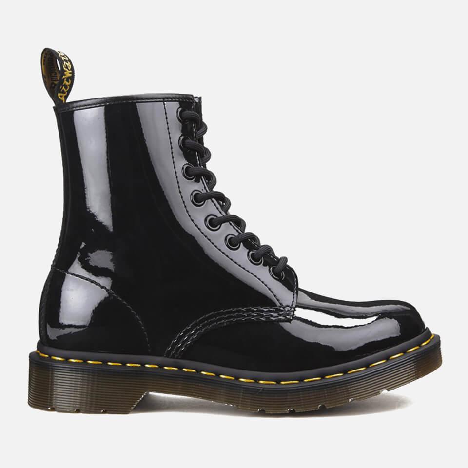 Dr. Martens Women's 1460 Patent Lamper 8-Eye Boots - Black - UK 6 - Black