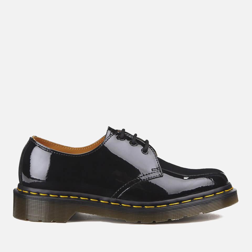 Dr. Martens Women's 1461 Patent Lamper 3-Eye Shoes - Black - UK 8 - Black