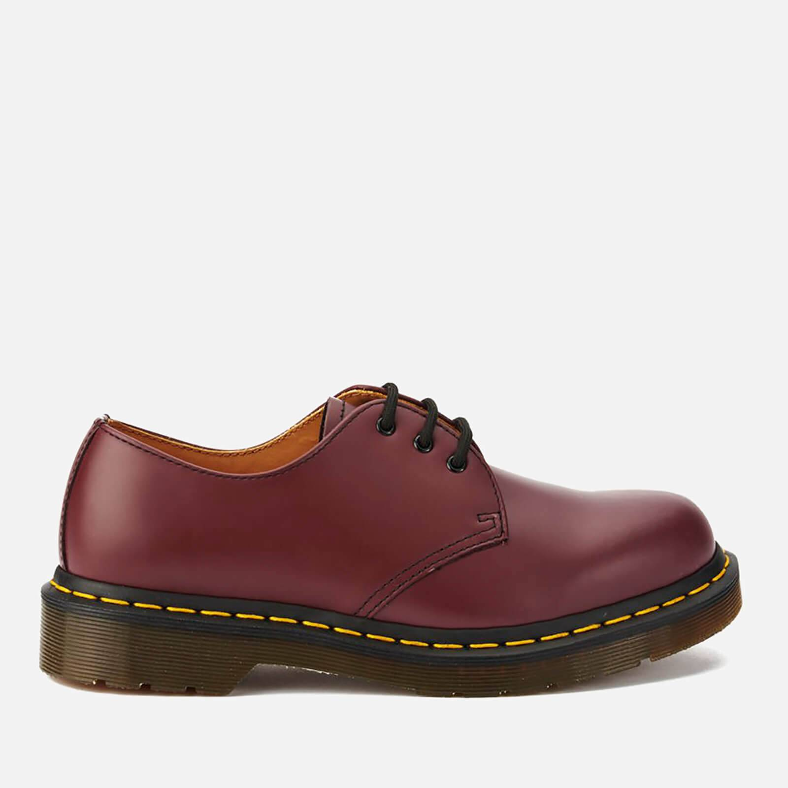 Dr. Martens 1461 Smooth Leather 3-Eye Shoes - Cherry Red - UK 6