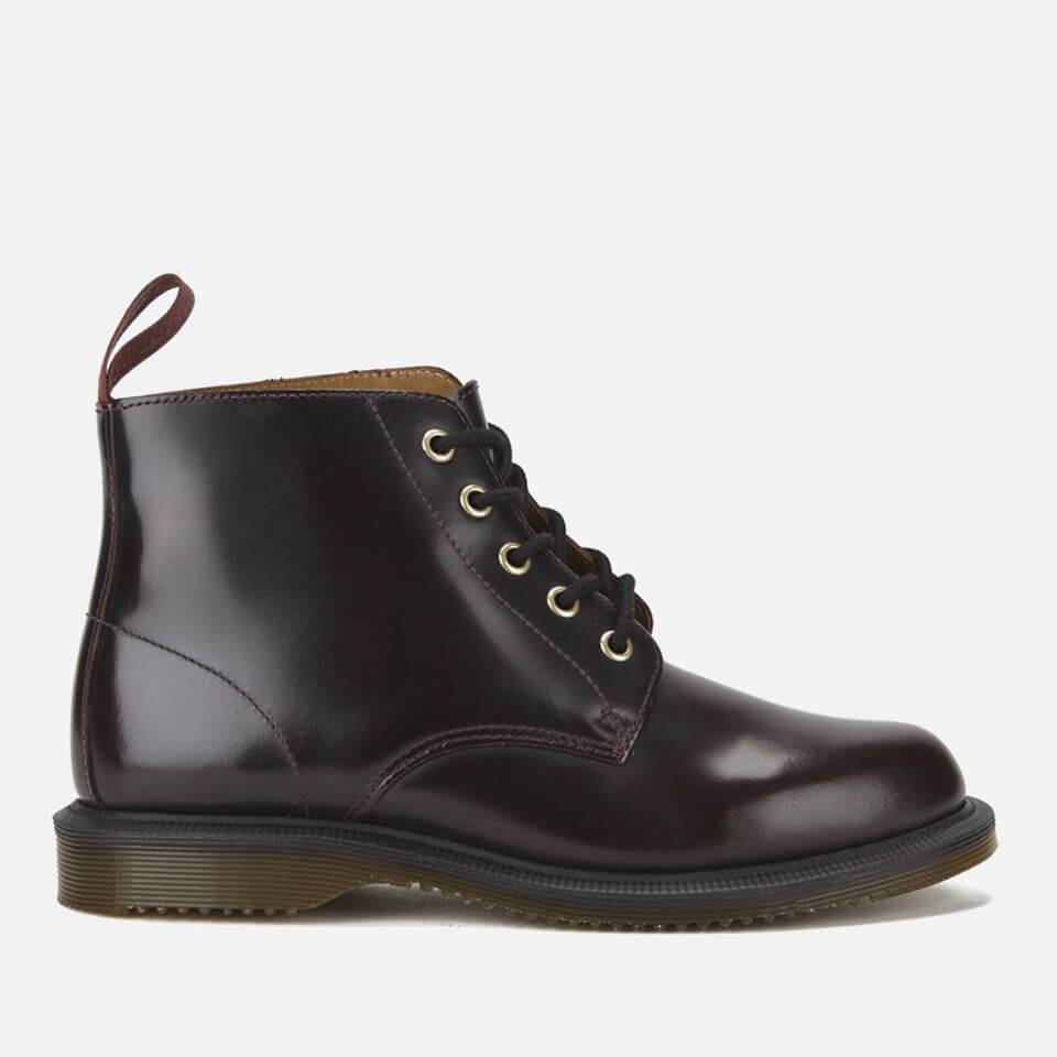 Dr. Martens Women's Emmeline Arcadia Leather 5-Eye Boots - Cherry Red - UK 6 - Red
