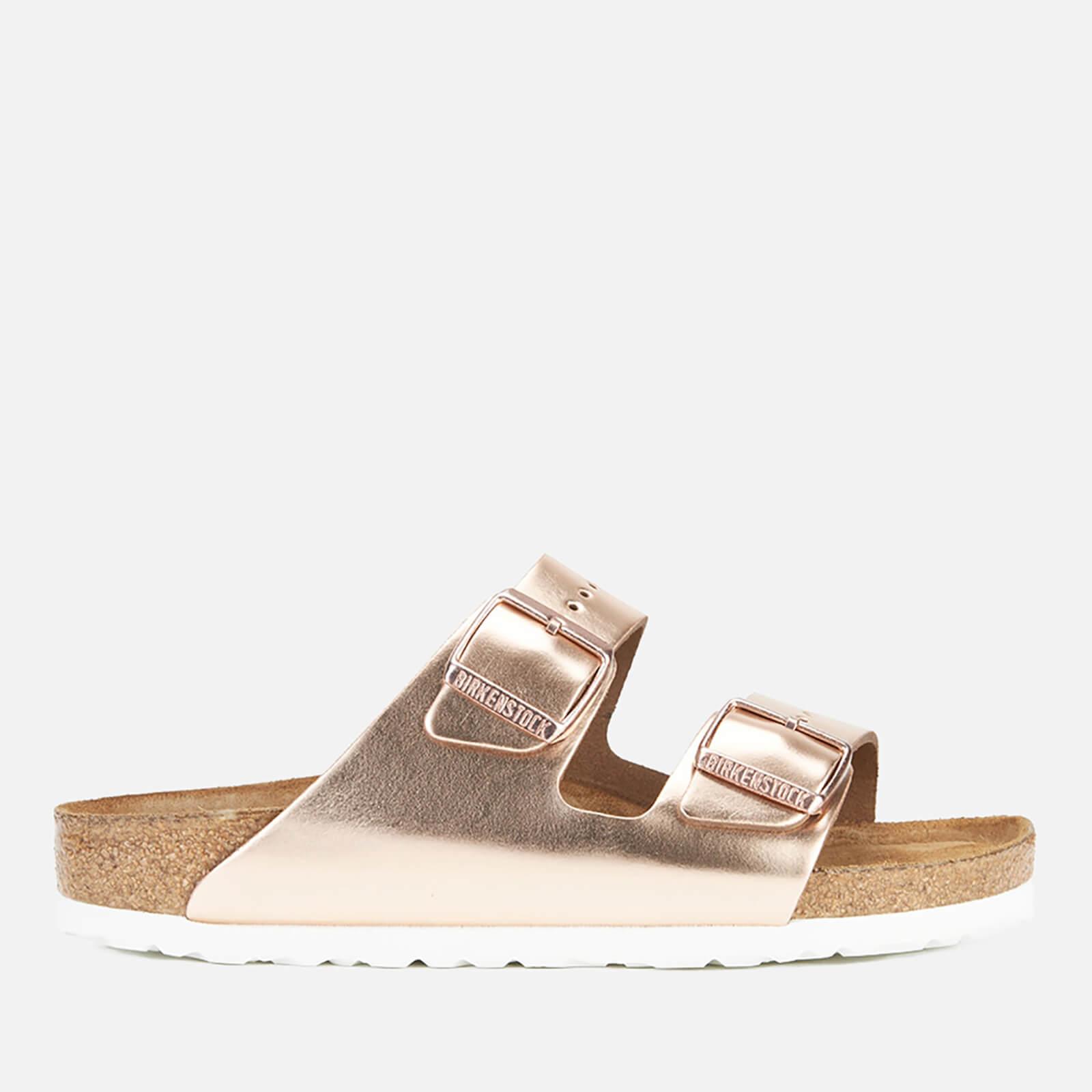 Birkenstock Women's Arizona Leather Double Strap Sandals - Metallic Copper - EU 40/UK 7