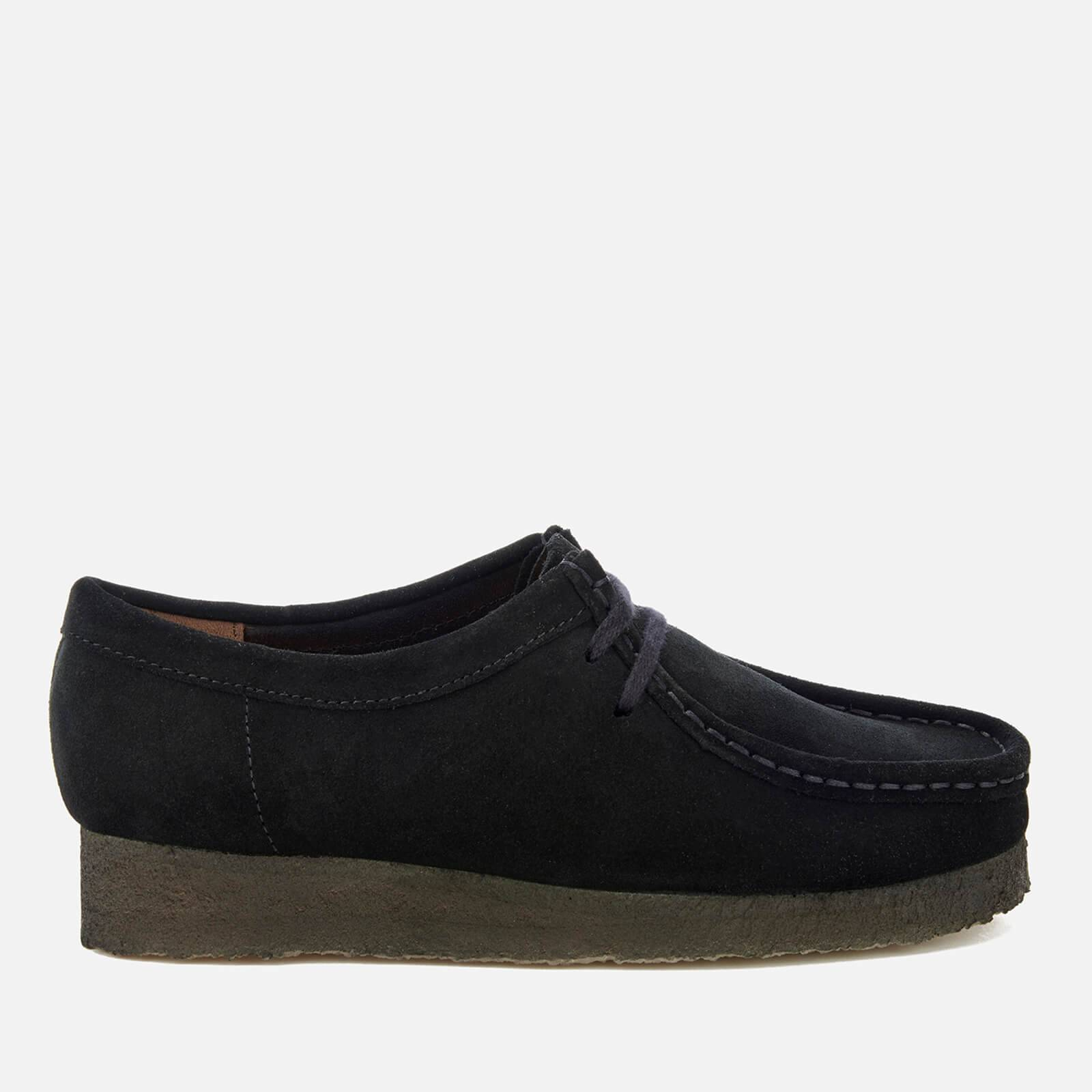 Clarks Originals Women's Wallabee Shoes - Black Suede - UK 4 - Black