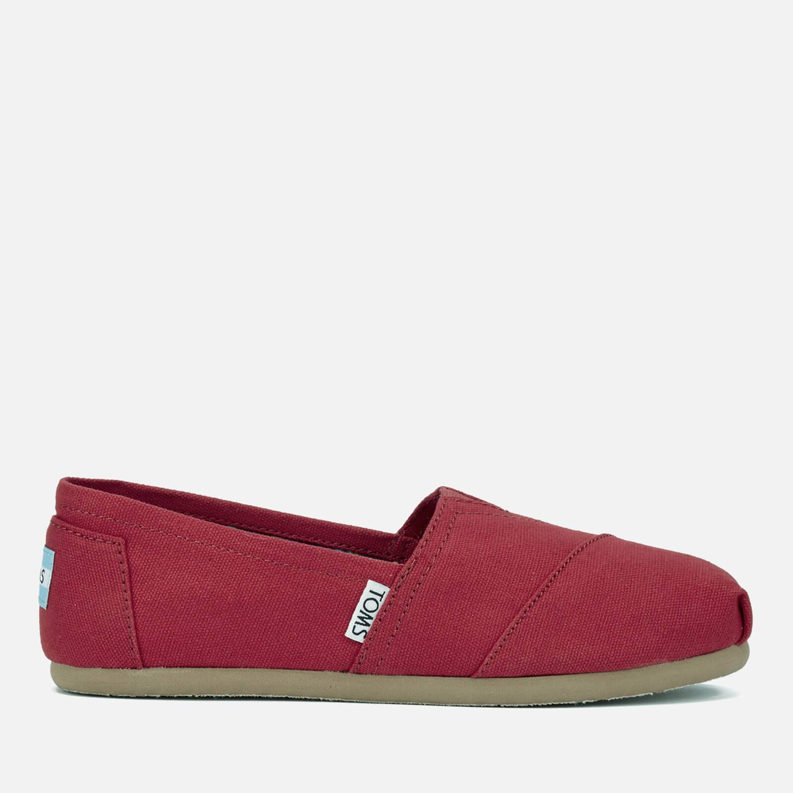 TOMS Women's Core Classics Slip-On Pumps - Red - UK 8/US 10