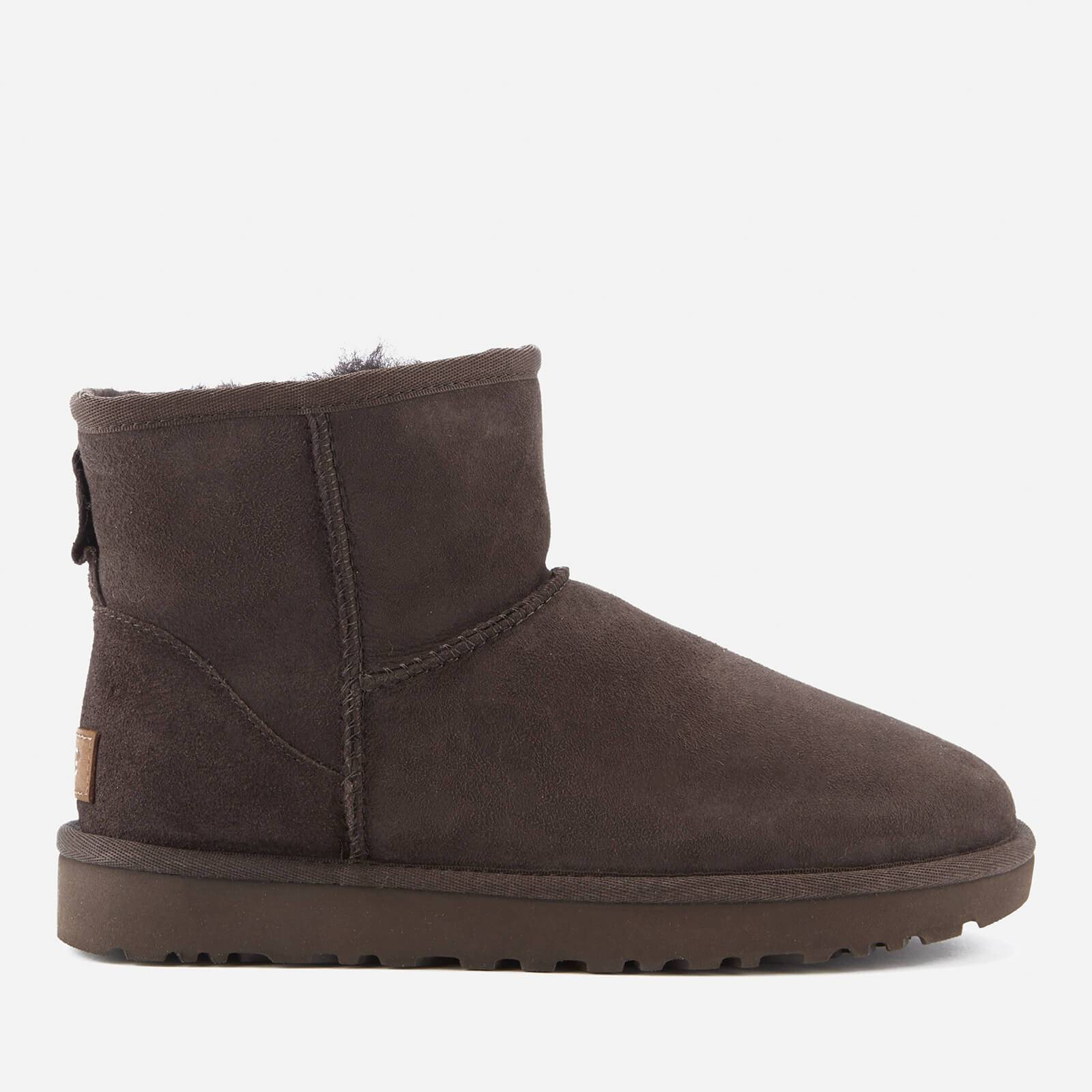 UGG Women's Classic Mini II Sheepskin Boots - Chocolate - UK 4