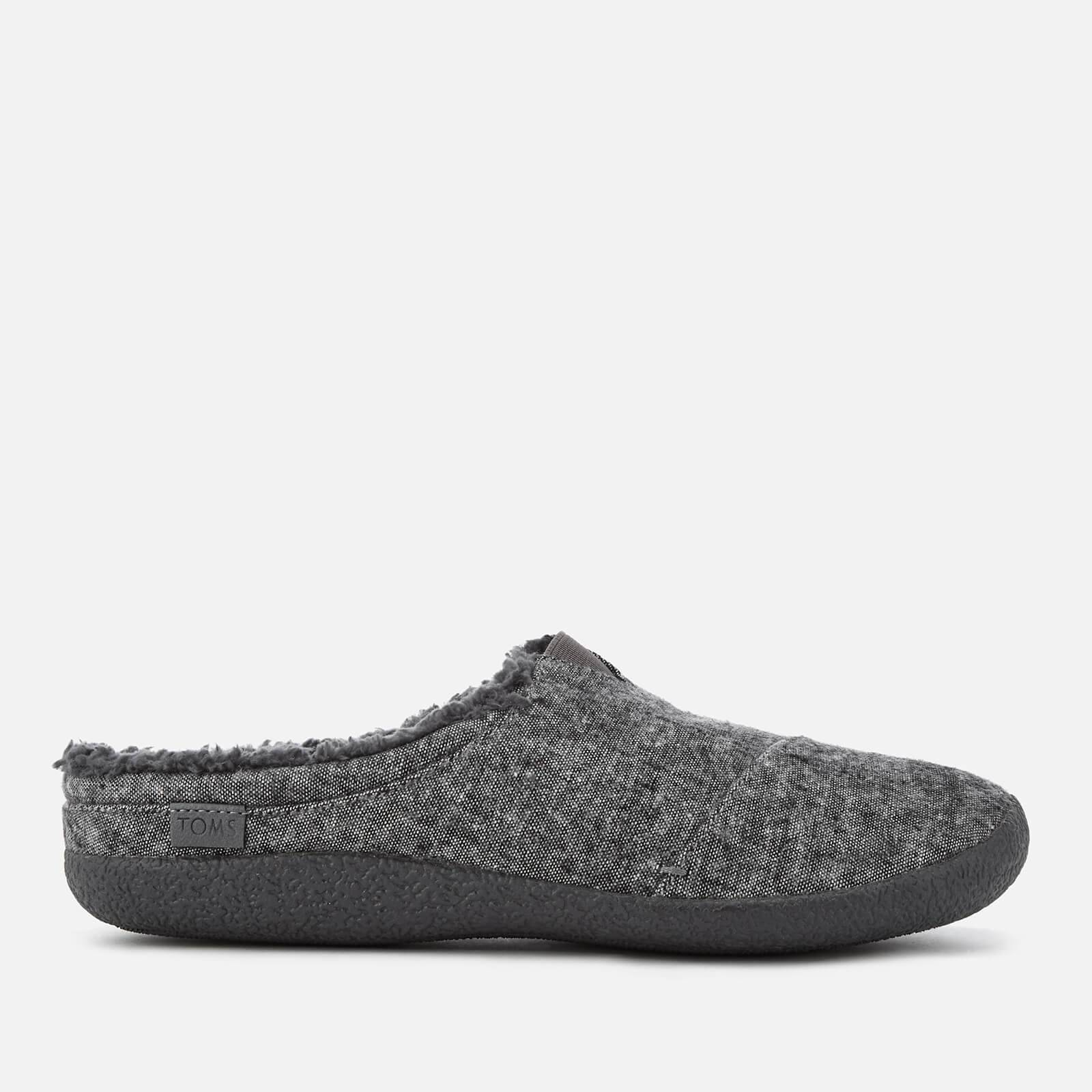 TOMS Men's Berkeley Slub Textile Slippers - Grey - UK 9/US 10 - Grey