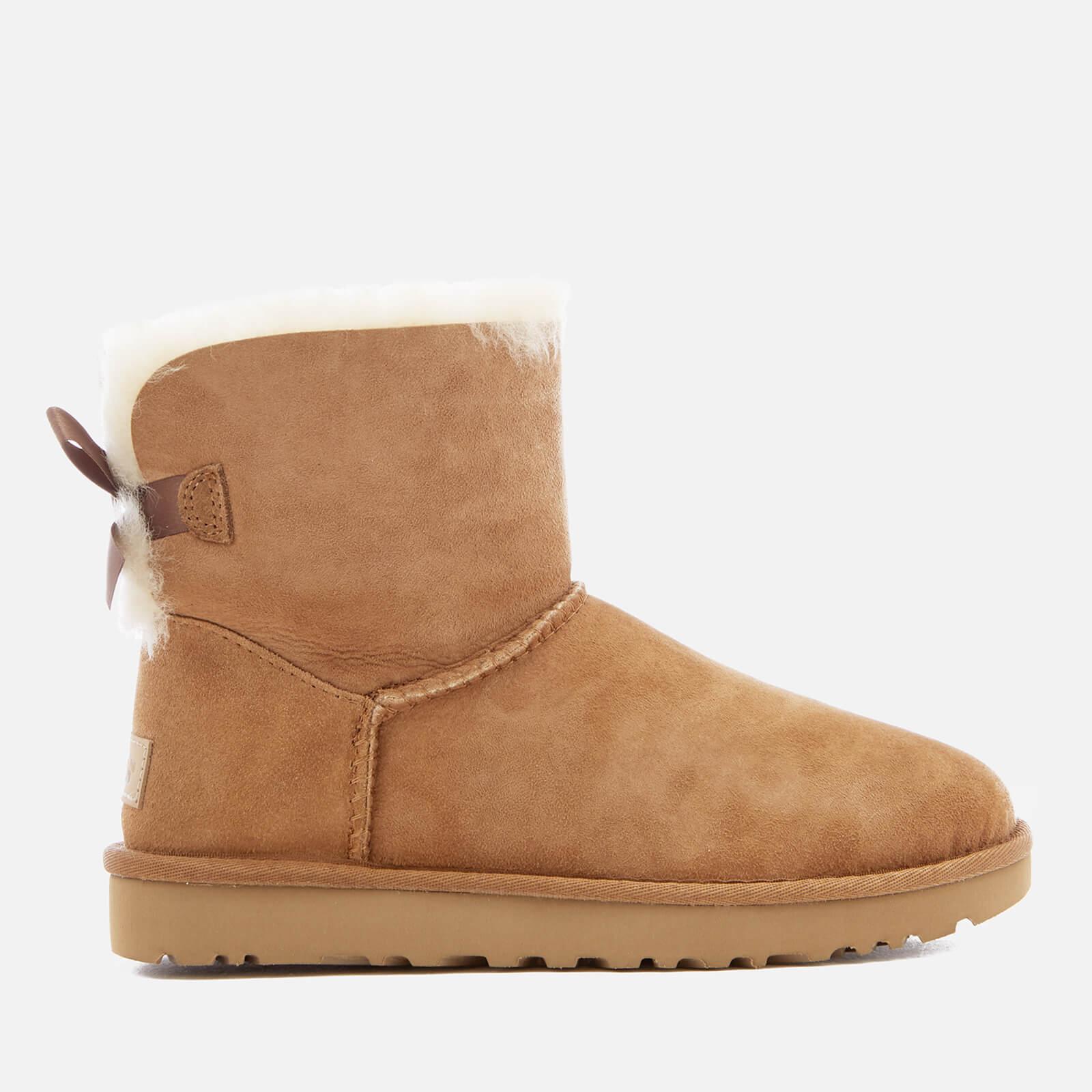 UGG Women's Mini Bailey Bow II Sheepskin Boots - Chestnut - UK 6