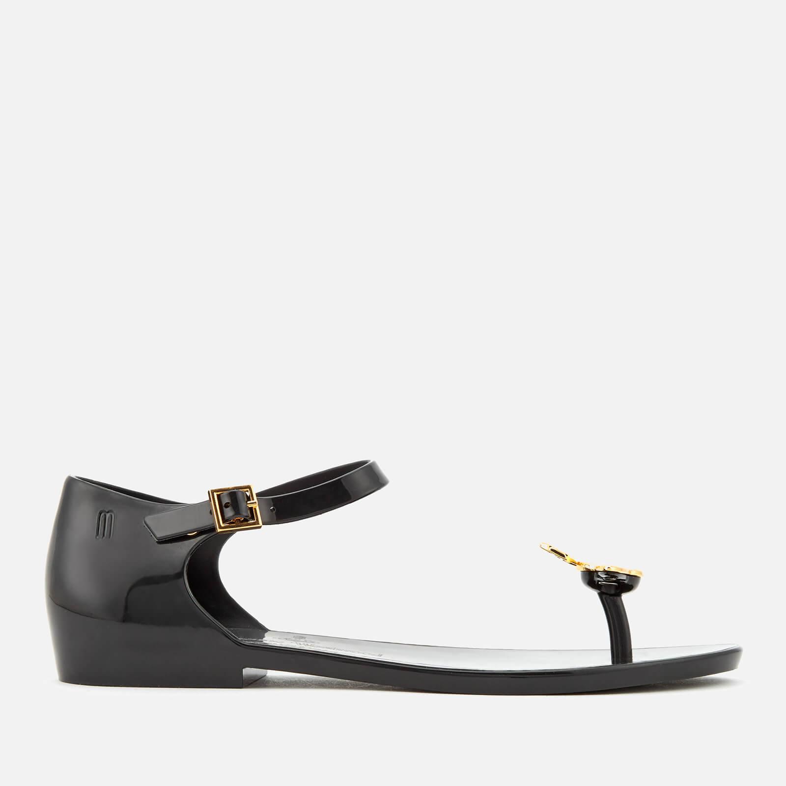 Vivienne Westwood for Melissa Women's Honey Toe Post Sandals - Black Orb - UK 7 - Black