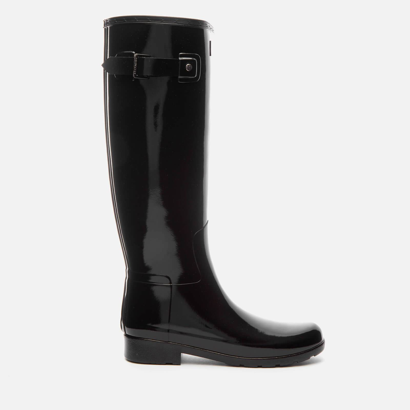Hunter Women's Original Refined Gloss Tall Wellies - Black - UK 4 - Black