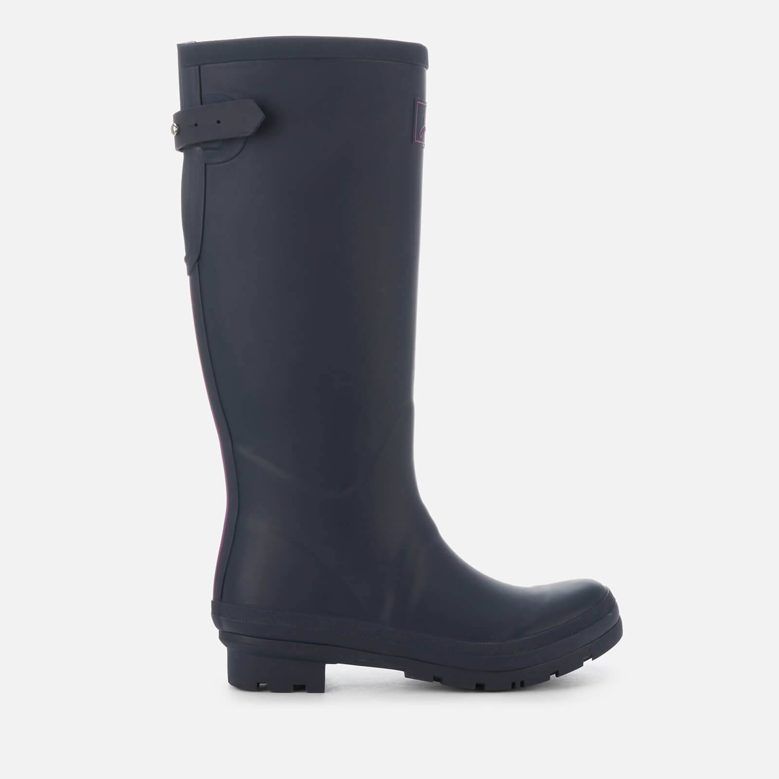 Joules Women's Field Back Adjustable Tall Wellies - French Navy - UK 4
