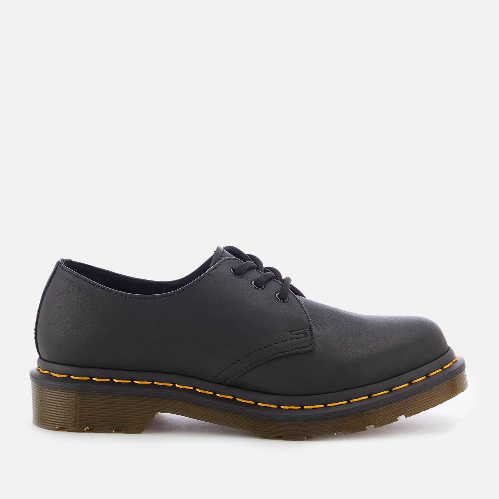 Dr. Martens Women's 1461 W Virginia Leather 3-Eye Shoes - Black - UK 8 - Black