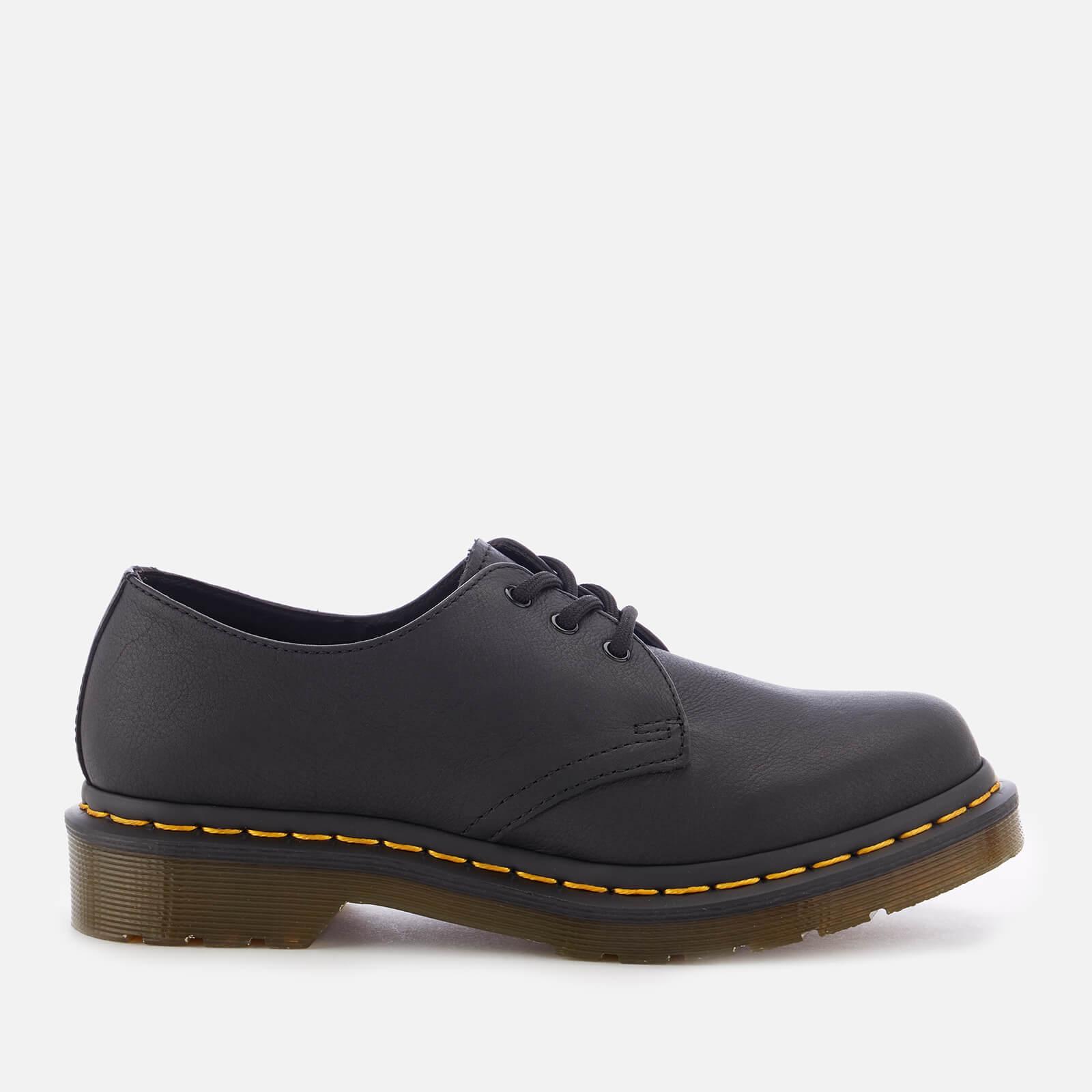 Dr. Martens Women's 1461 W Virginia Leather 3-Eye Shoes - Black - UK 6 - Black