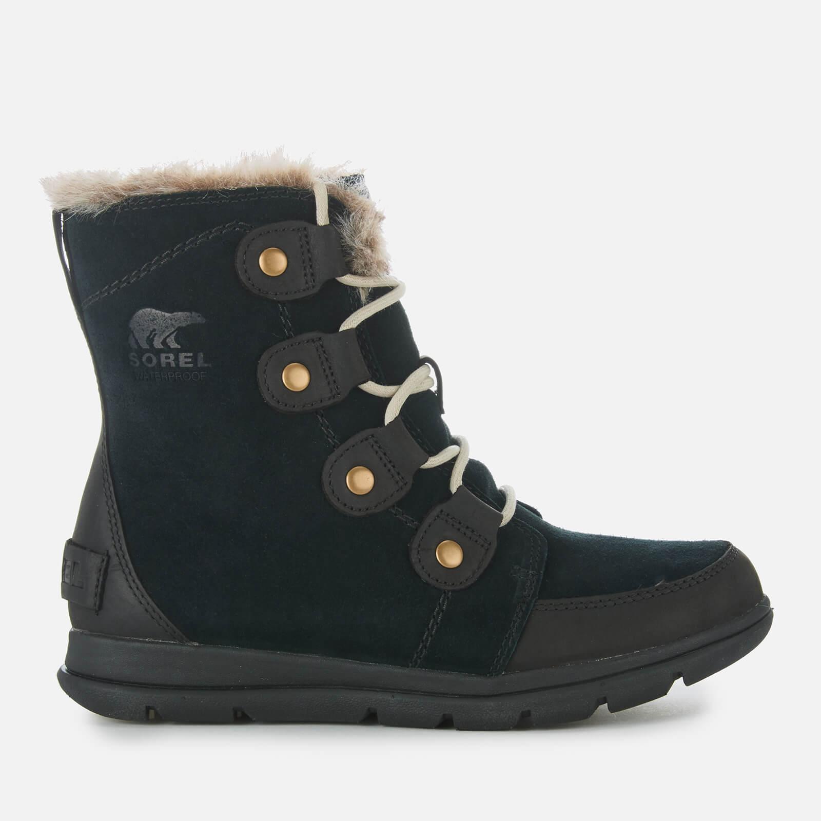 Sorel Women's Explorer Joan Hiker Style Boots - Black Dark Stone - UK 4